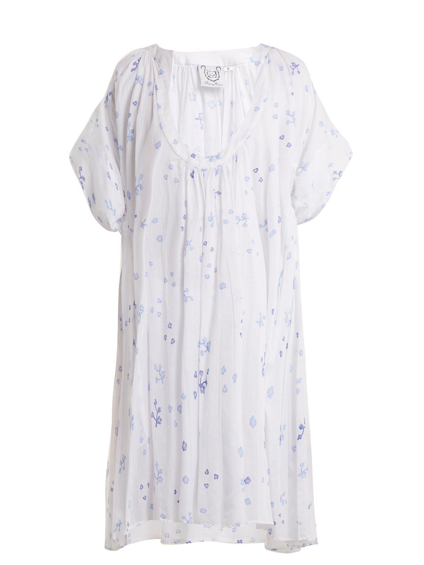 Shanta floral-print cotton dress Thierry Colson Discount Newest GJnUodszz