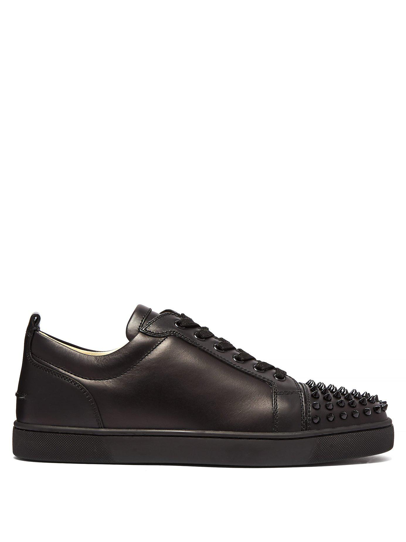 ebbf8280752 Lyst - Christian Louboutin Louis Junior Low Top Leather Trainers in ...