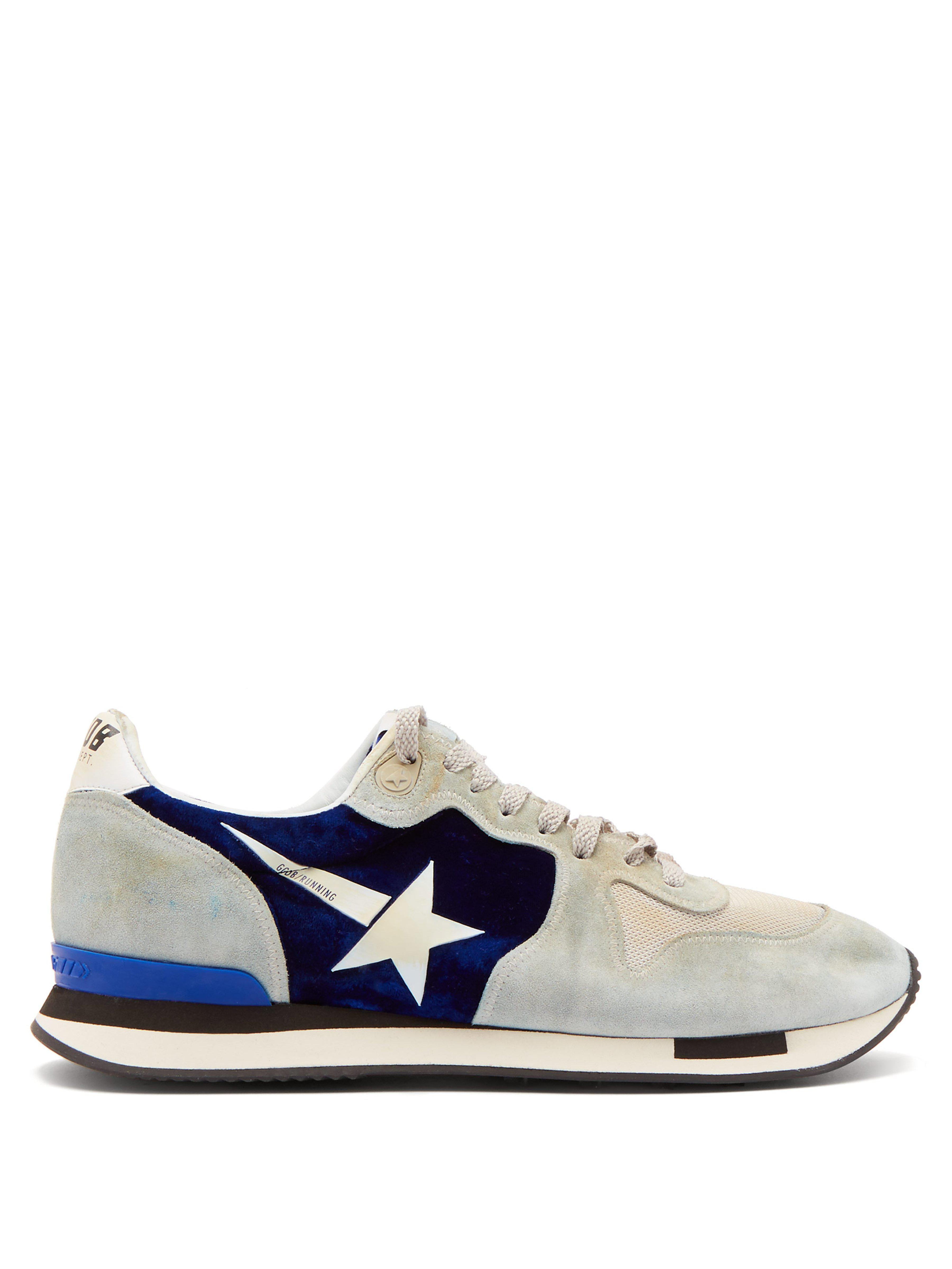 wholesale dealer ff6b0 7602e golden-goose-deluxe-brand-blue-multi-Running-Suede-And-Velvet-Trainers.jpeg