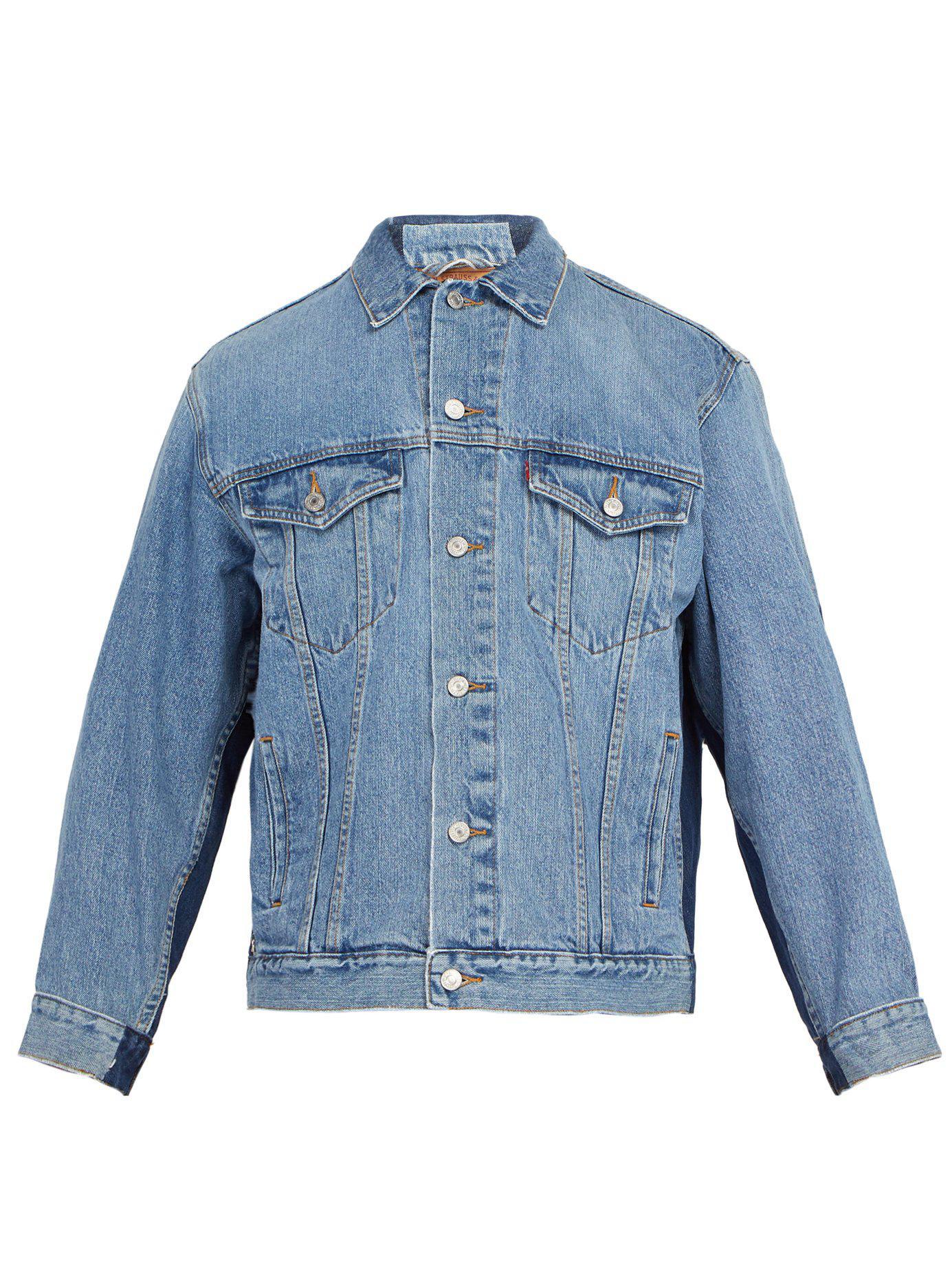 601309da Bless X Maryam Nassir Zadeh Deconstructed Denim Jacket in Blue for ...