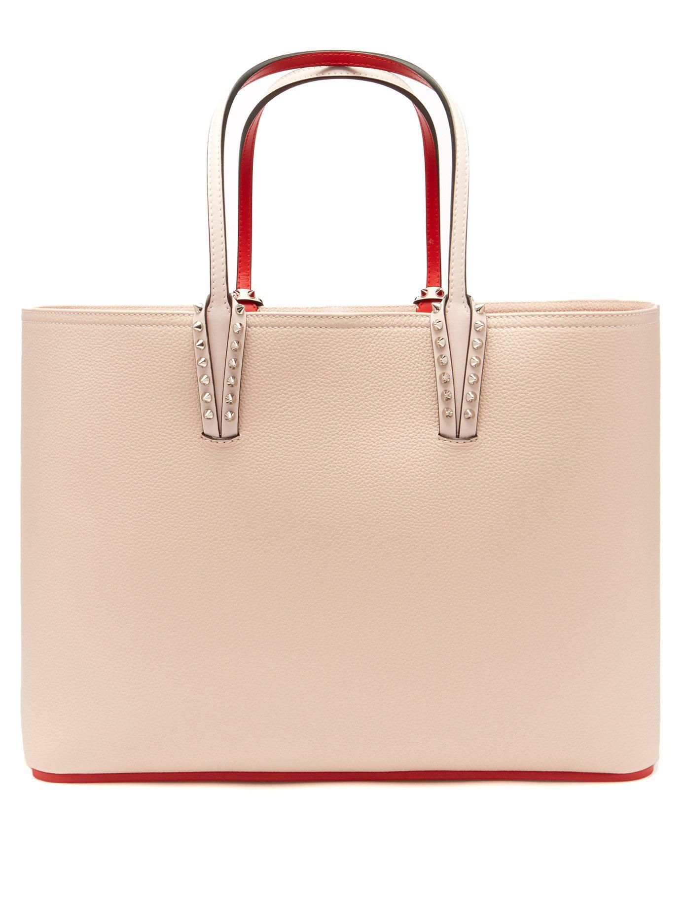 aba697fb1652 Lyst - Christian Louboutin Cabata Grained Leather Tote in Pink
