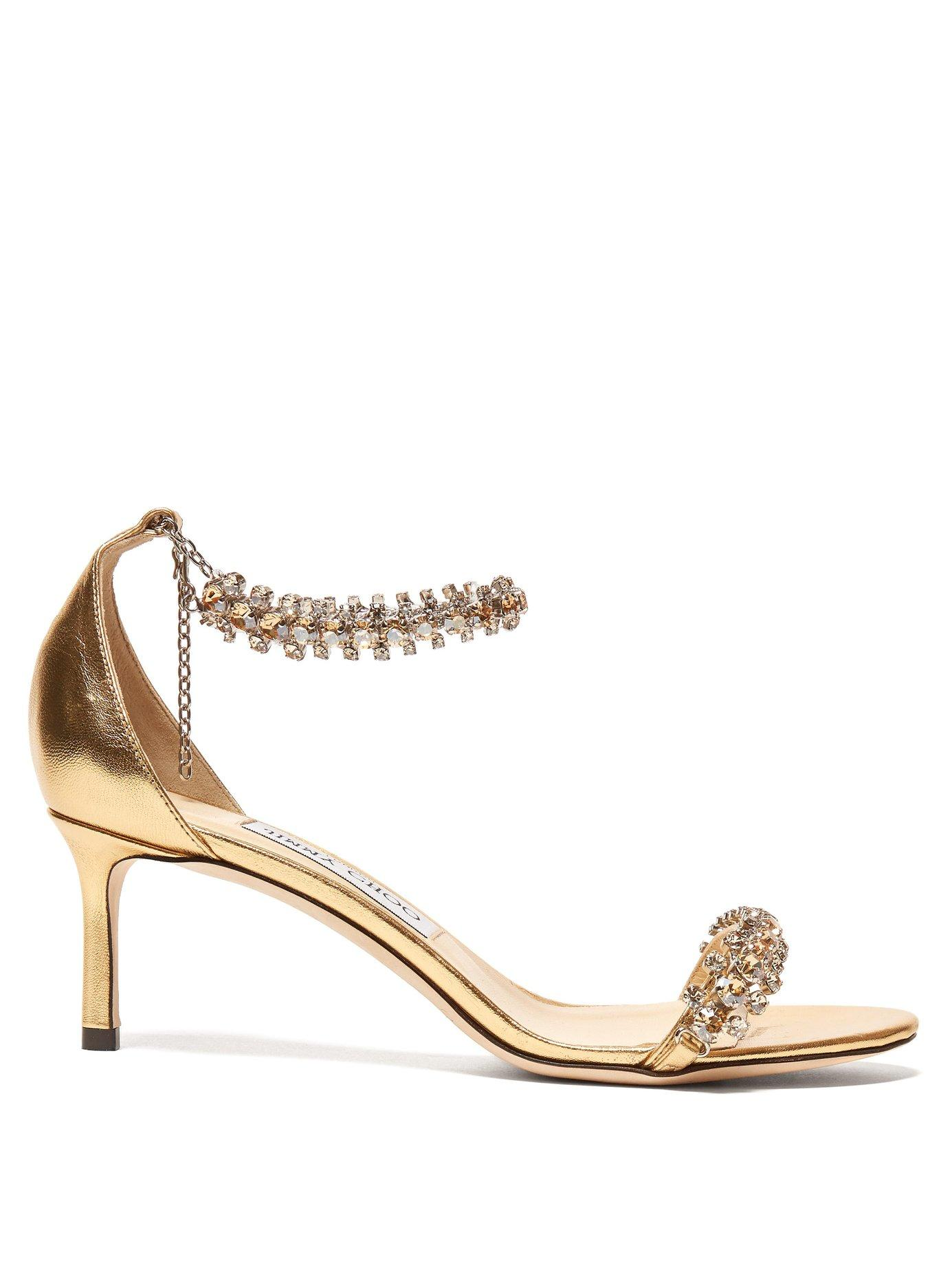 2243d601a943 Jimmy Choo Shiloh 60 Crystal Embellished Sandals in Metallic - Lyst