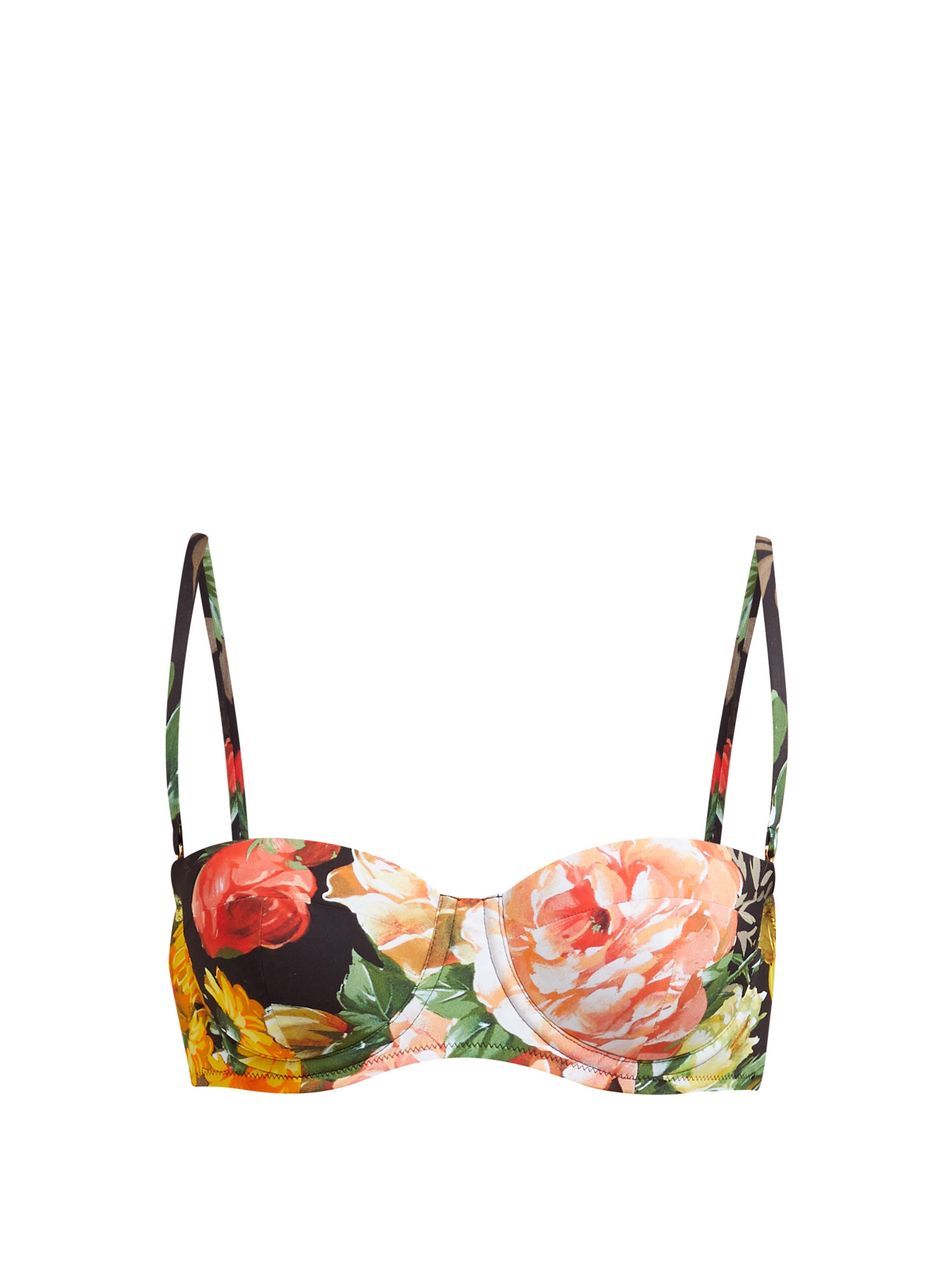 0177613d6c Dolce   Gabbana. Women s Floral Print Balconette Bikini Top
