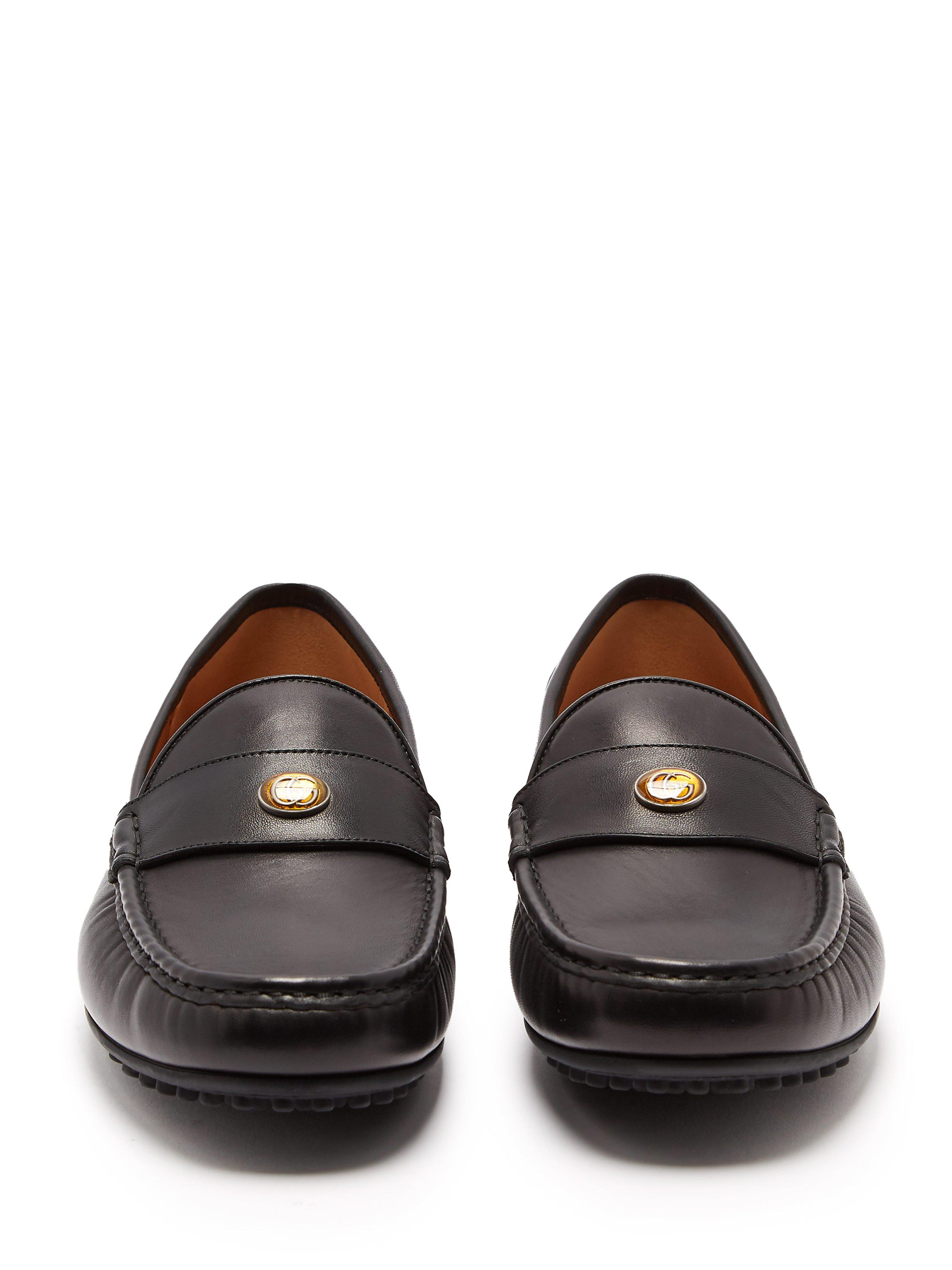 a6ad9ffb604 Gucci - Black Soft Leather Moccasin Loafers for Men - Lyst. View fullscreen