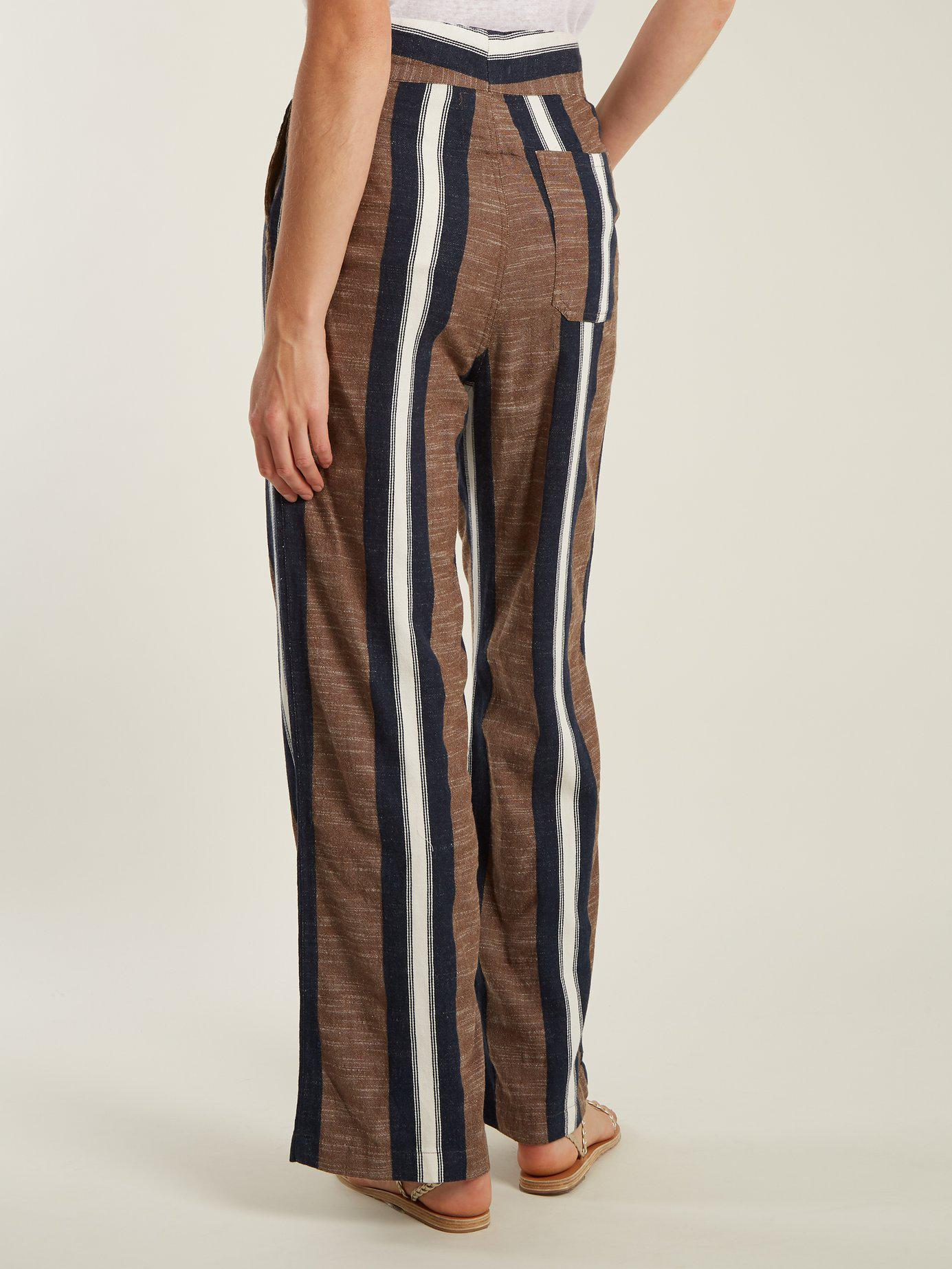 Pantalon ample rayé DavisAce & Jig Vente Ebay Pas Cher Acheter Pas Cher Vente Chaude Point De Vente Pas Cher Choix De Sortie bfiGC5hufK