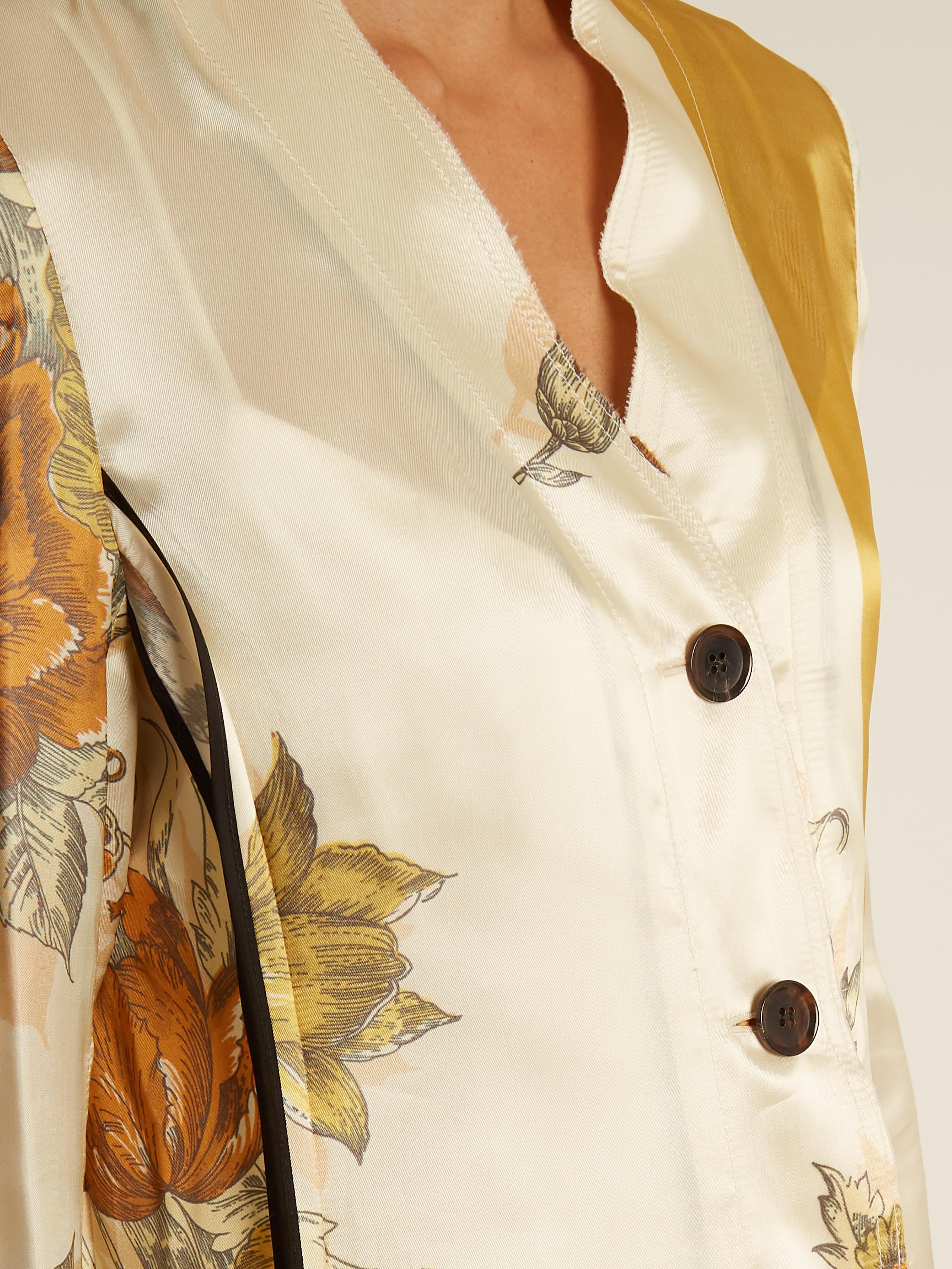 Vallens raw-edge floral-print dress Kwaidan Editions Sast Cheap Price p1Y9HqiGY