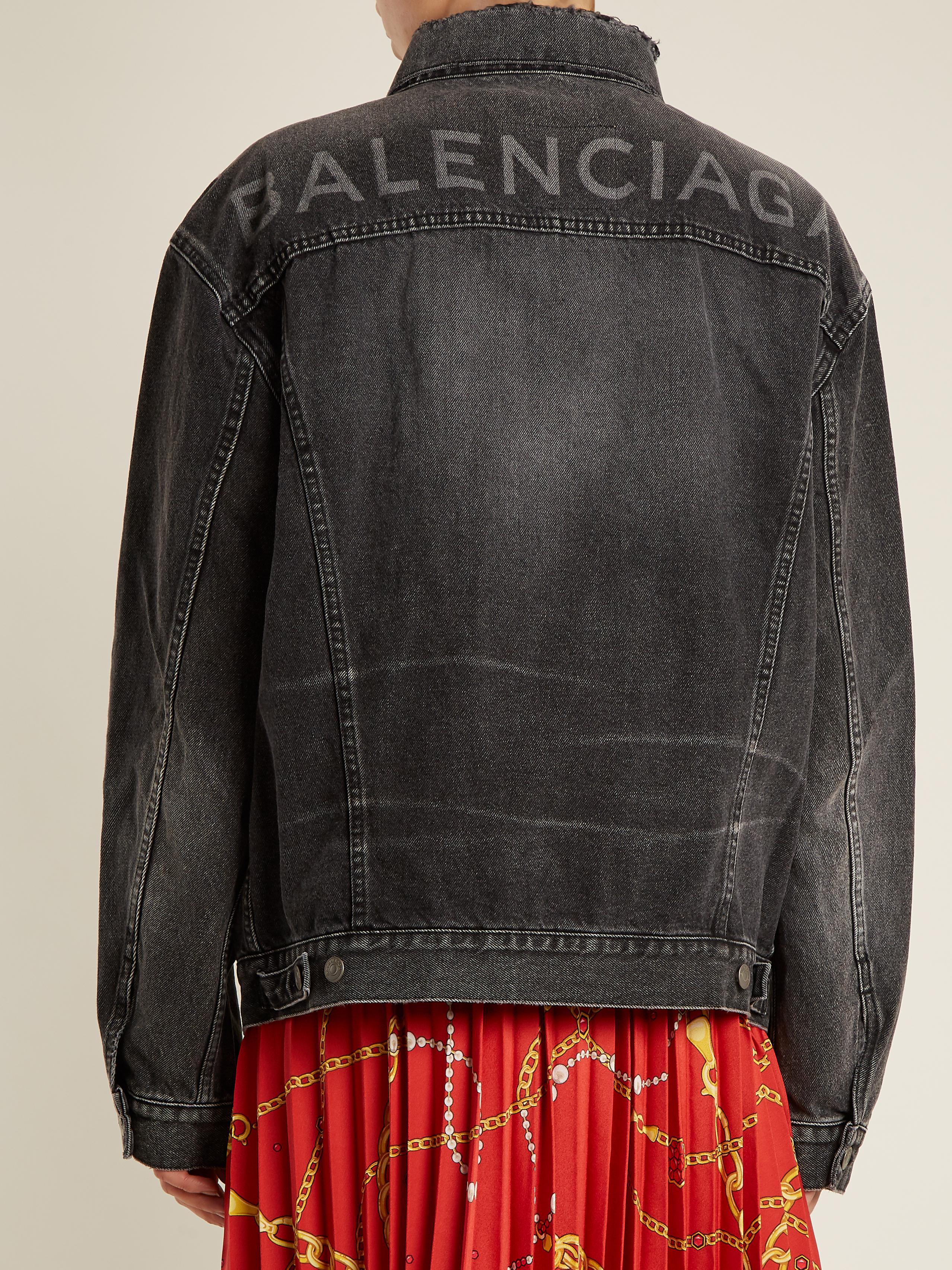 Lyst - Balenciaga Like A Man Denim Jacket In Black-4273