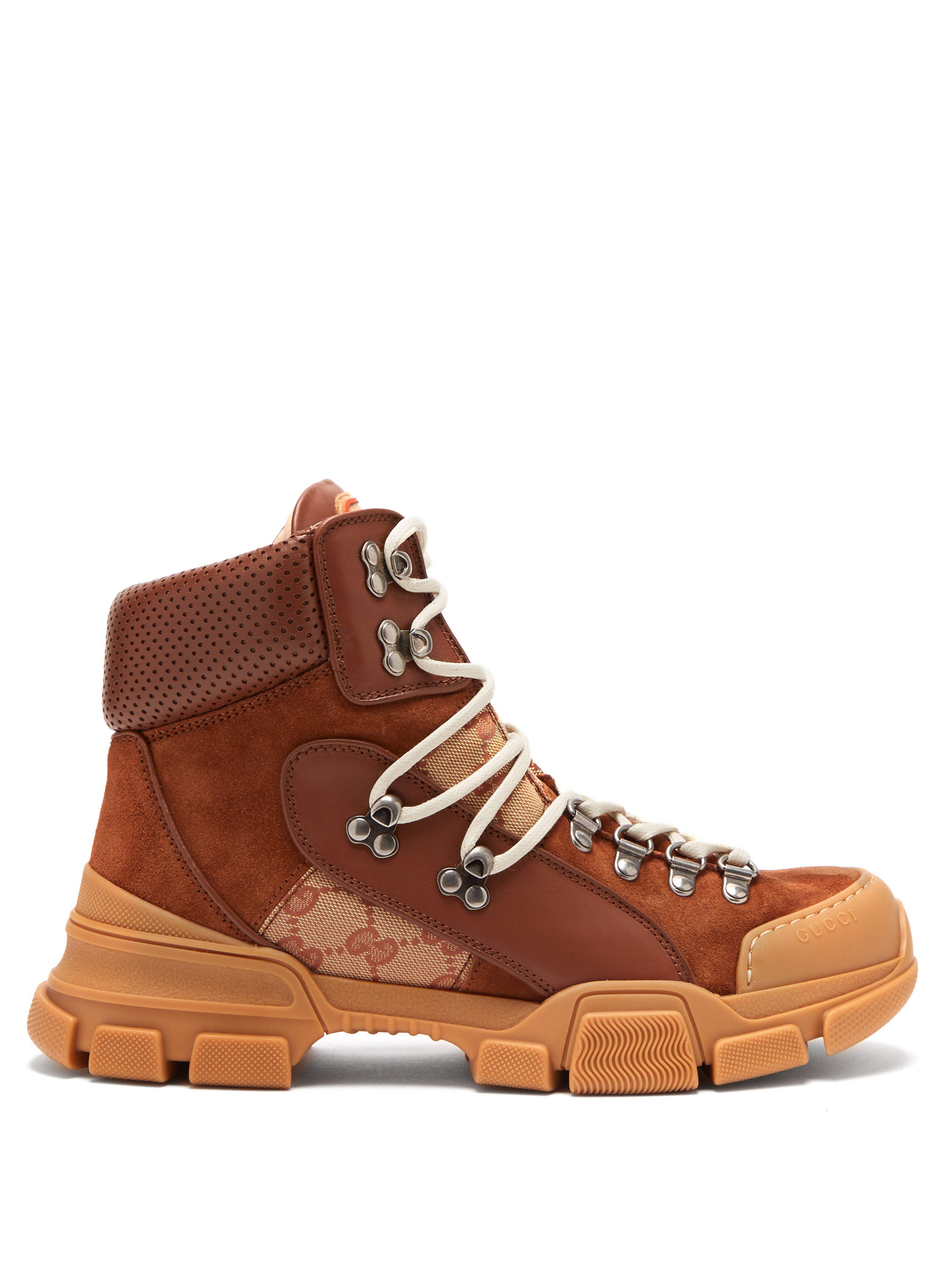 c1399463f93e Gucci - Brown Flashtrek GG High-top Sneakers - Lyst. View fullscreen