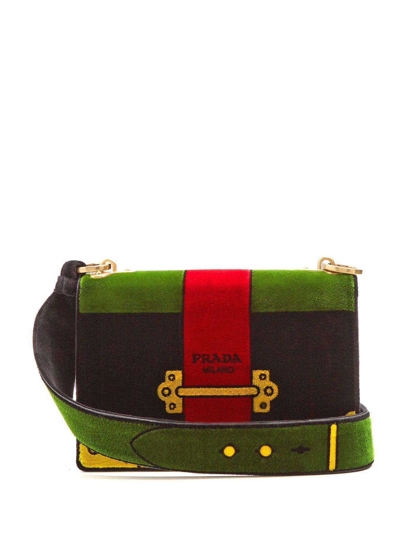 577ea9577c4f ... denmark lyst prada cartoon velvet cross body bag in black 0f89d ba2d0