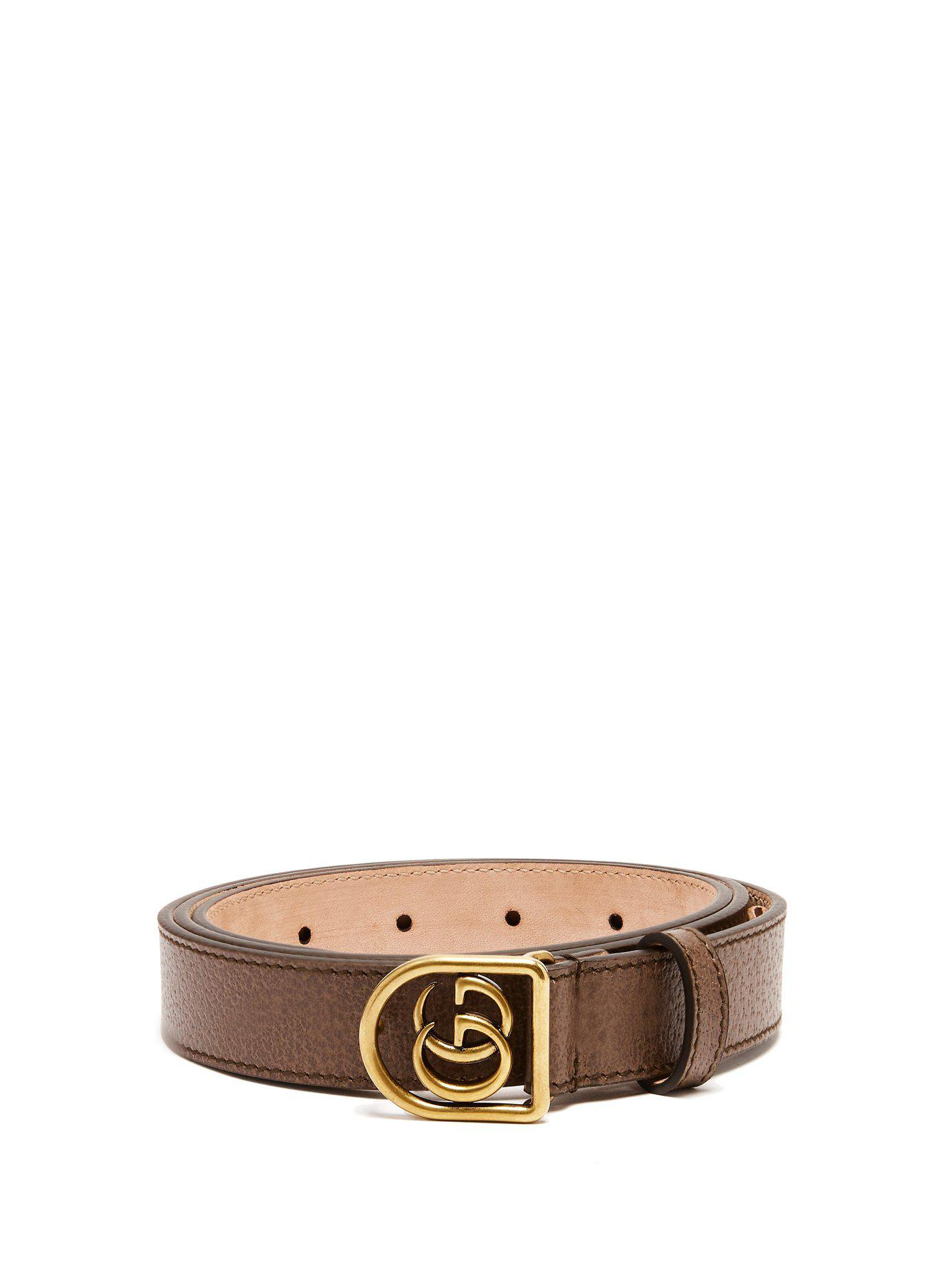 607c64f86c1 Lyst - Gucci Gg Leather Belt in Brown for Men - Save 53%
