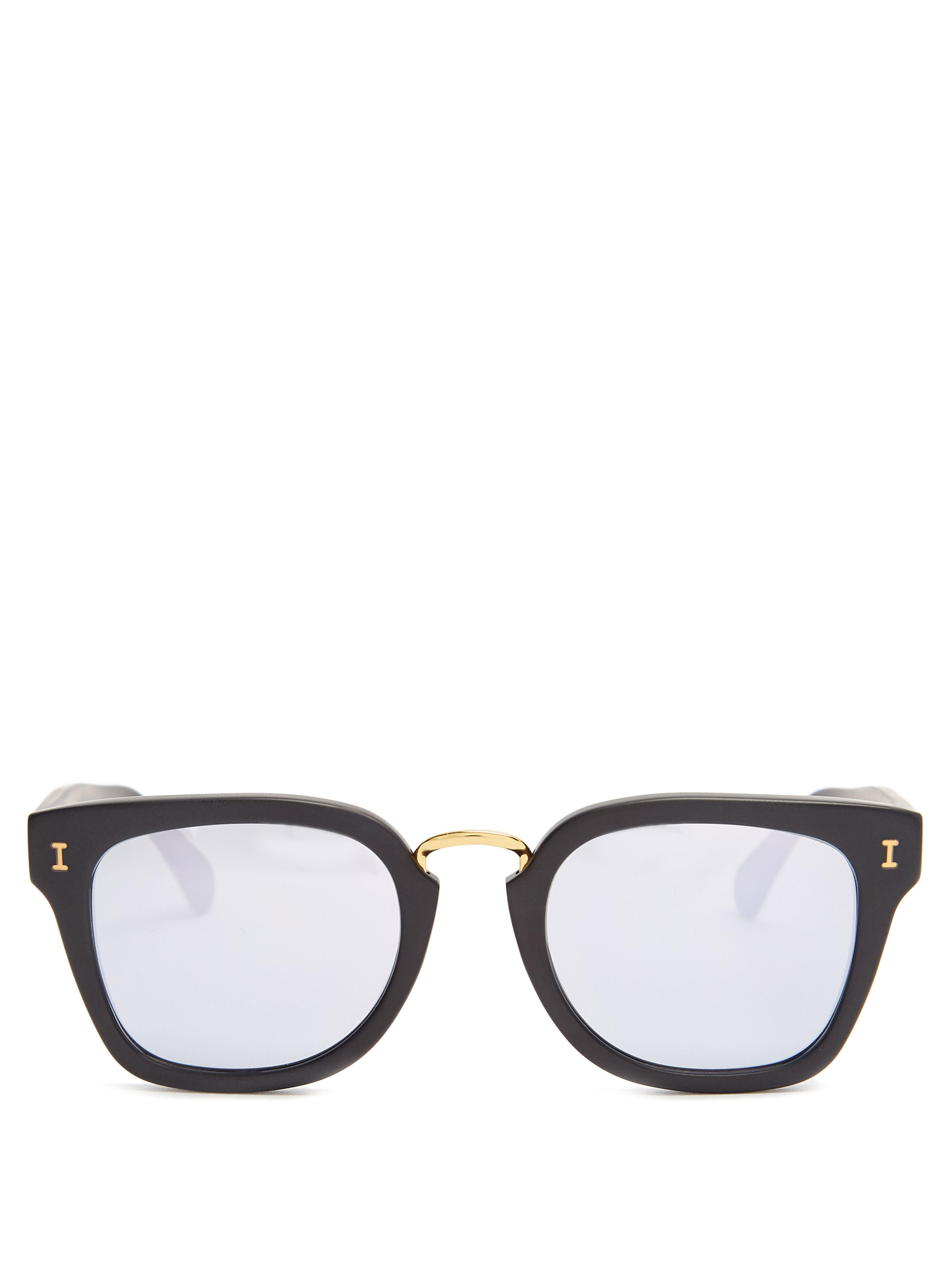 8a6e8eae03 Illesteva Positano Rounded Square Acetate Sunglasses in Black for ...