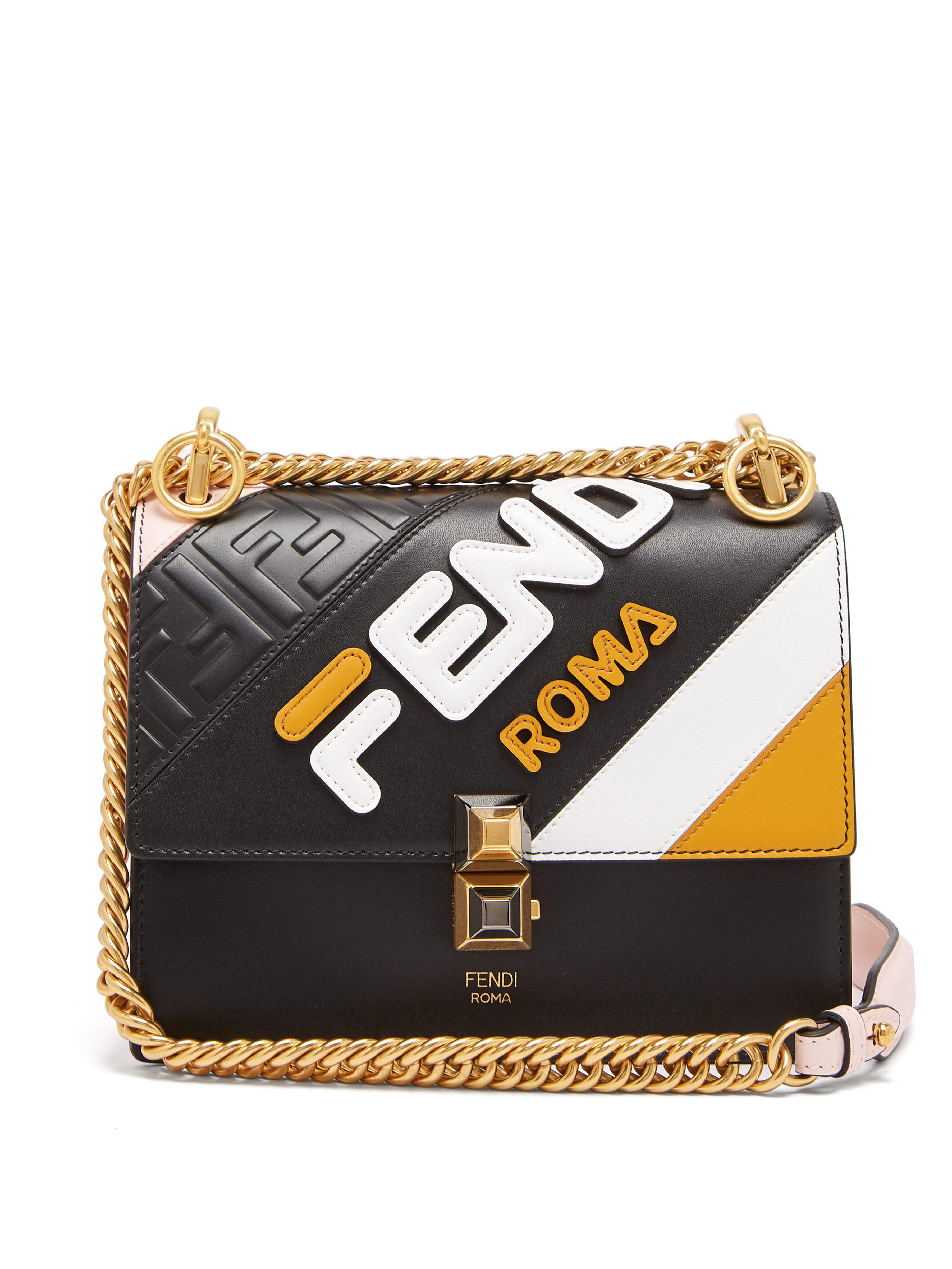 465491a60234 Fendi Mania Kan I Small Leather Cross Body Bag - Save 28% - Lyst