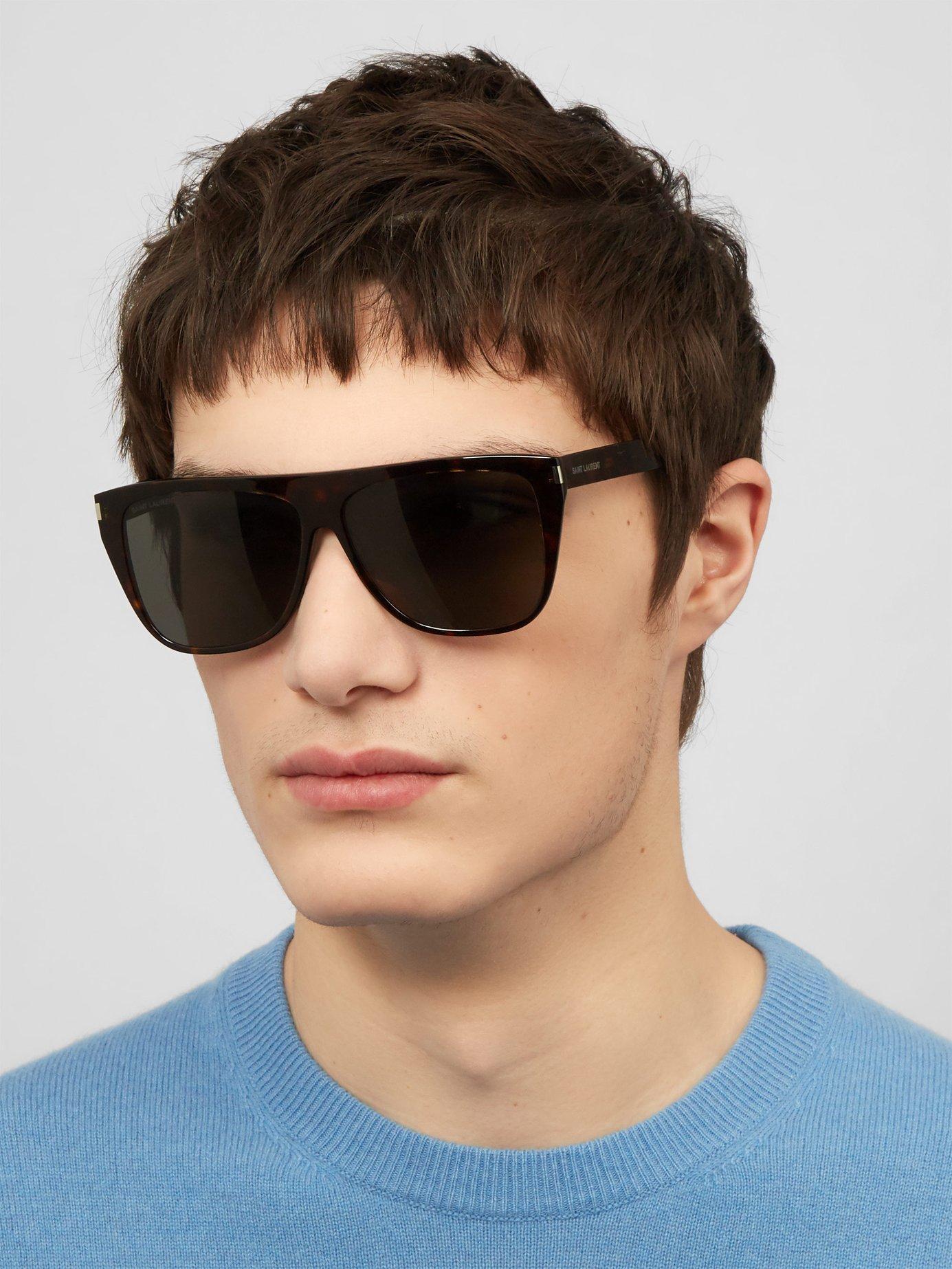 29f11d249a8 Saint Laurent - Multicolor D Frame Acetate Sunglasses for Men - Lyst. View  fullscreen