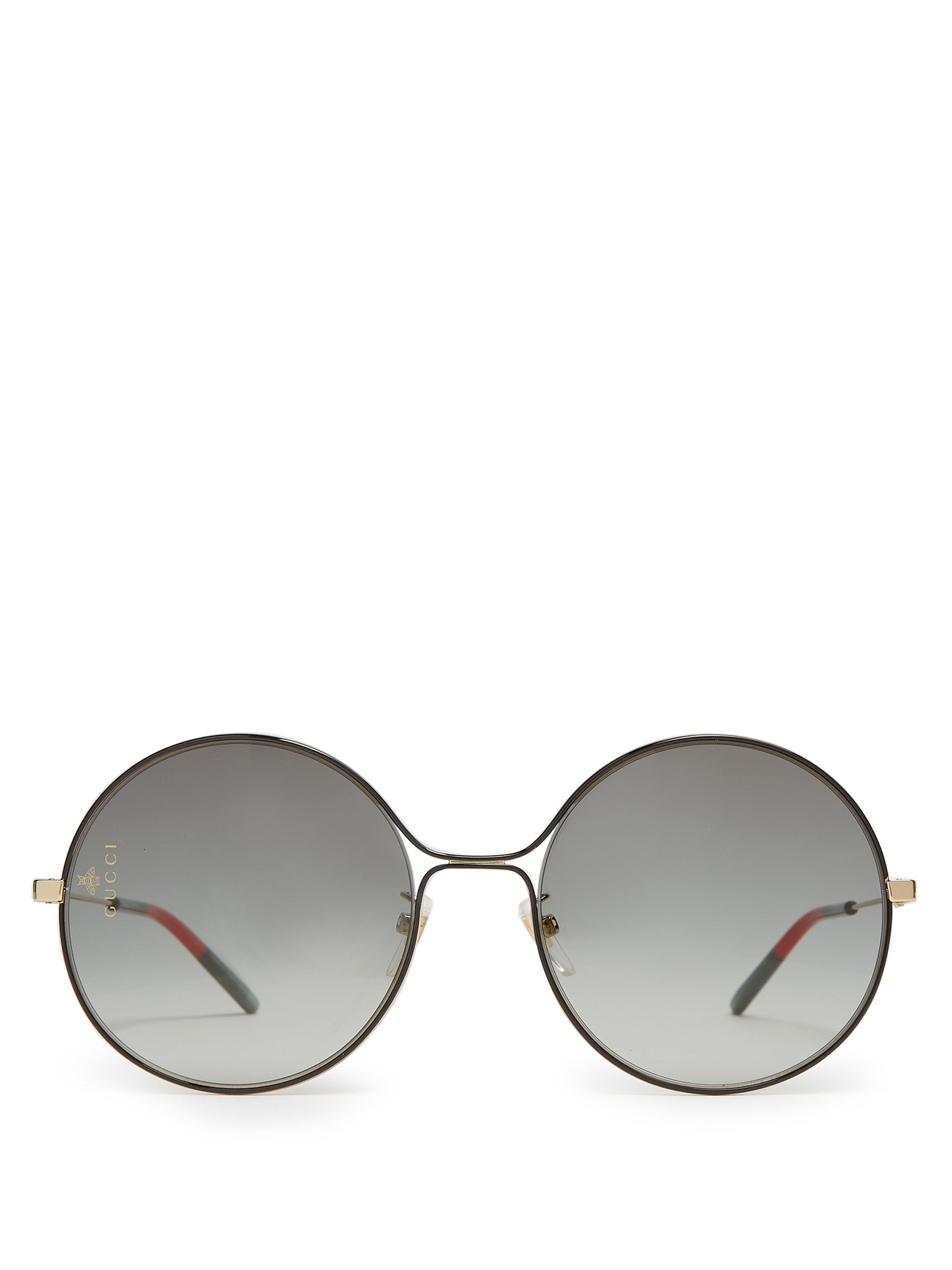 c6bcd3e7b62 Gucci - Multicolor Gg Rounded Frame Metal Sunglasses - Lyst. View fullscreen