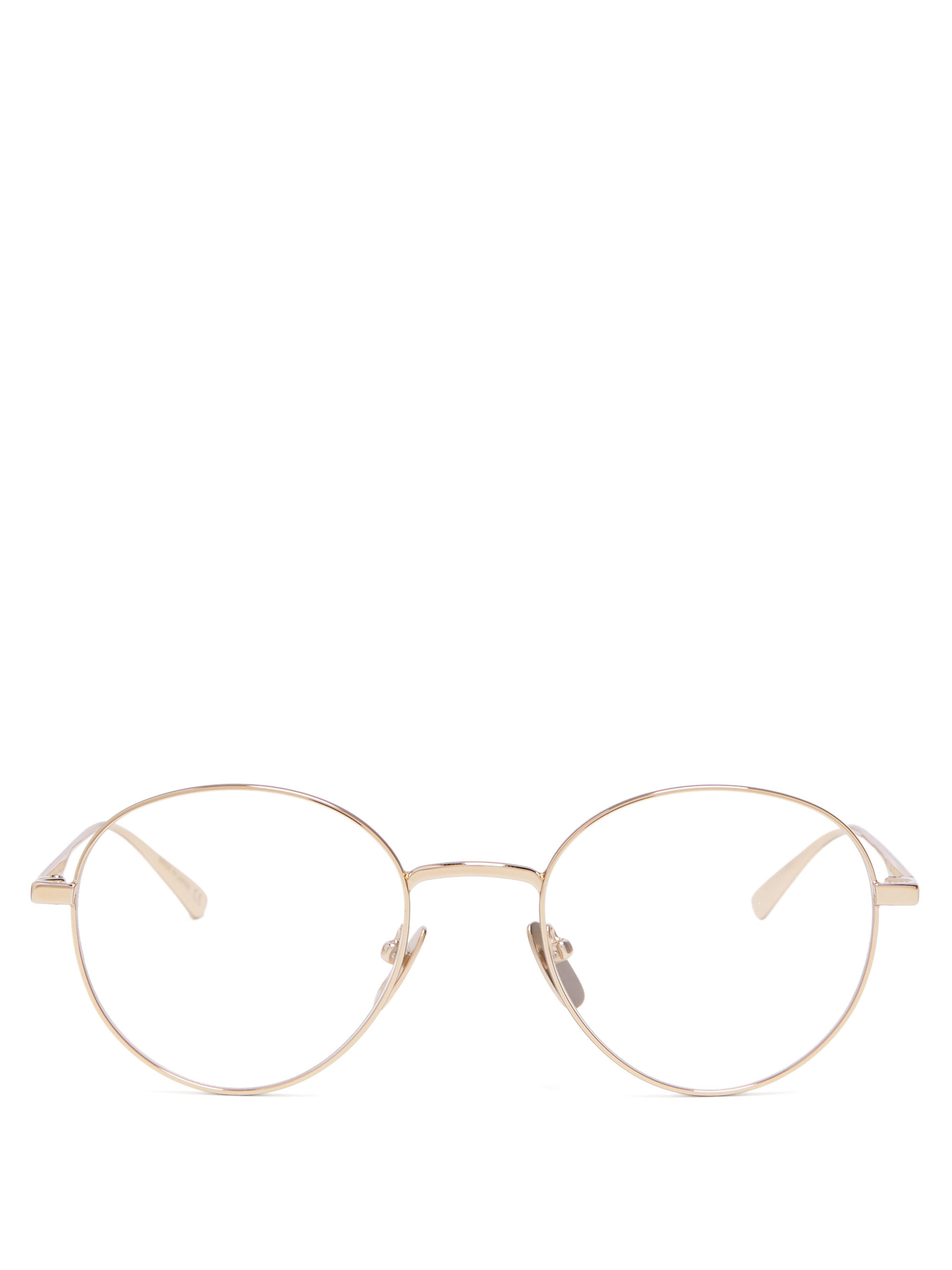 f684dec1391 Gucci Round Metal Glasses in Metallic for Men - Lyst