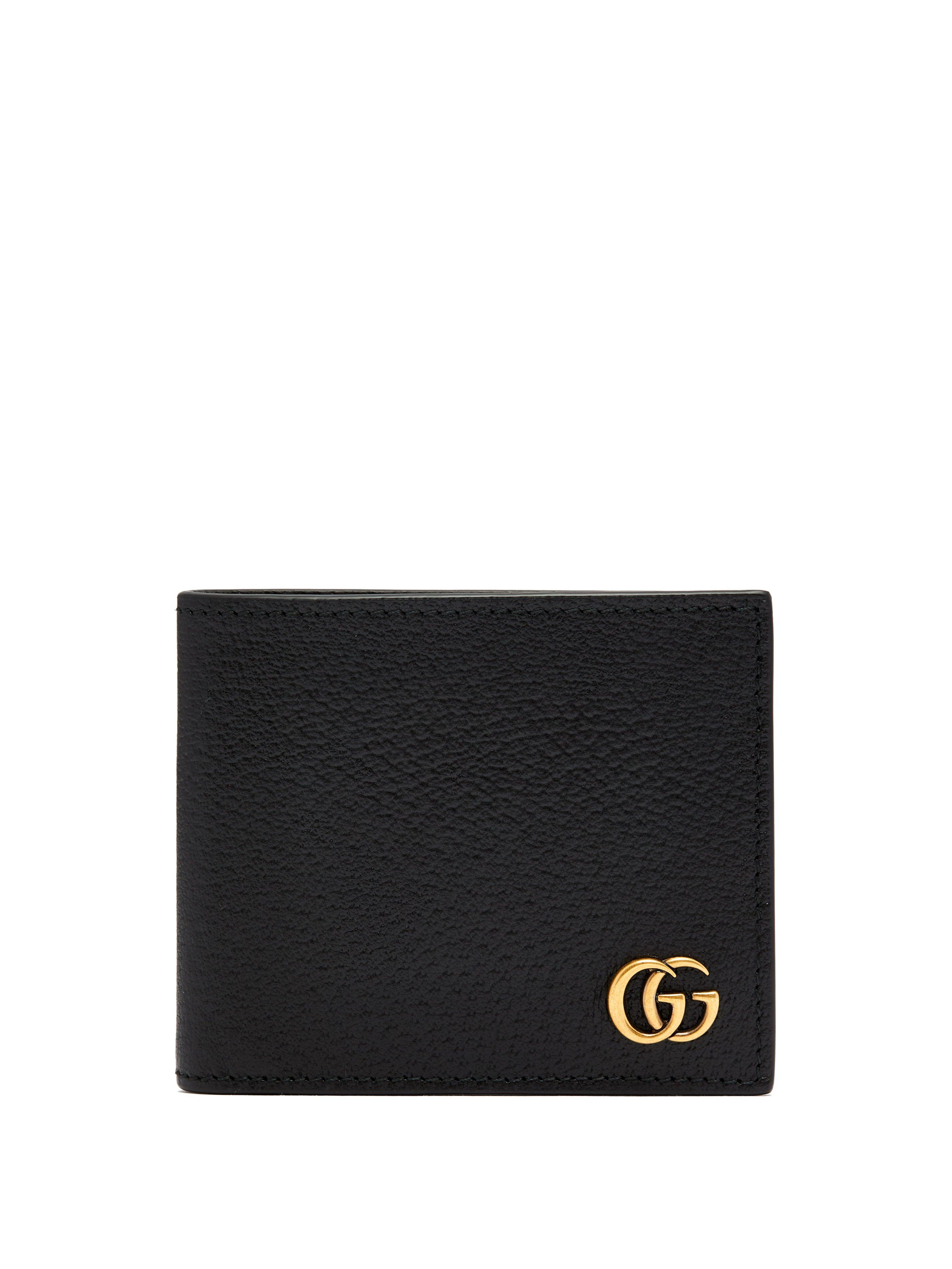 cbafedf19 Gucci Gg Marmont Leather Id Wallet in Black for Men - Save 45% - Lyst
