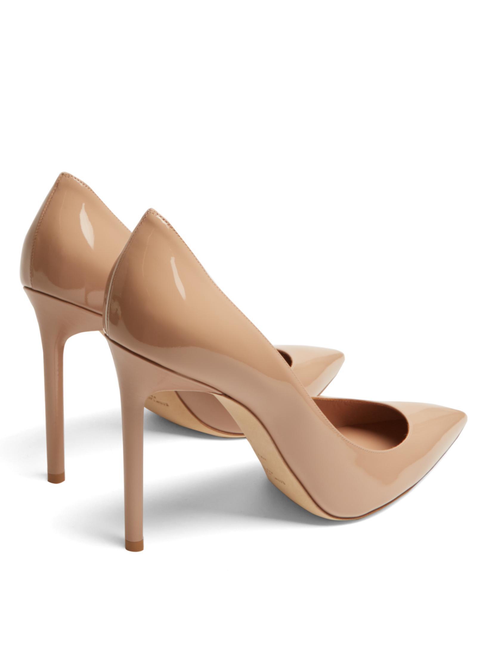 Beige Patent Anja Heels Saint Laurent og0r6