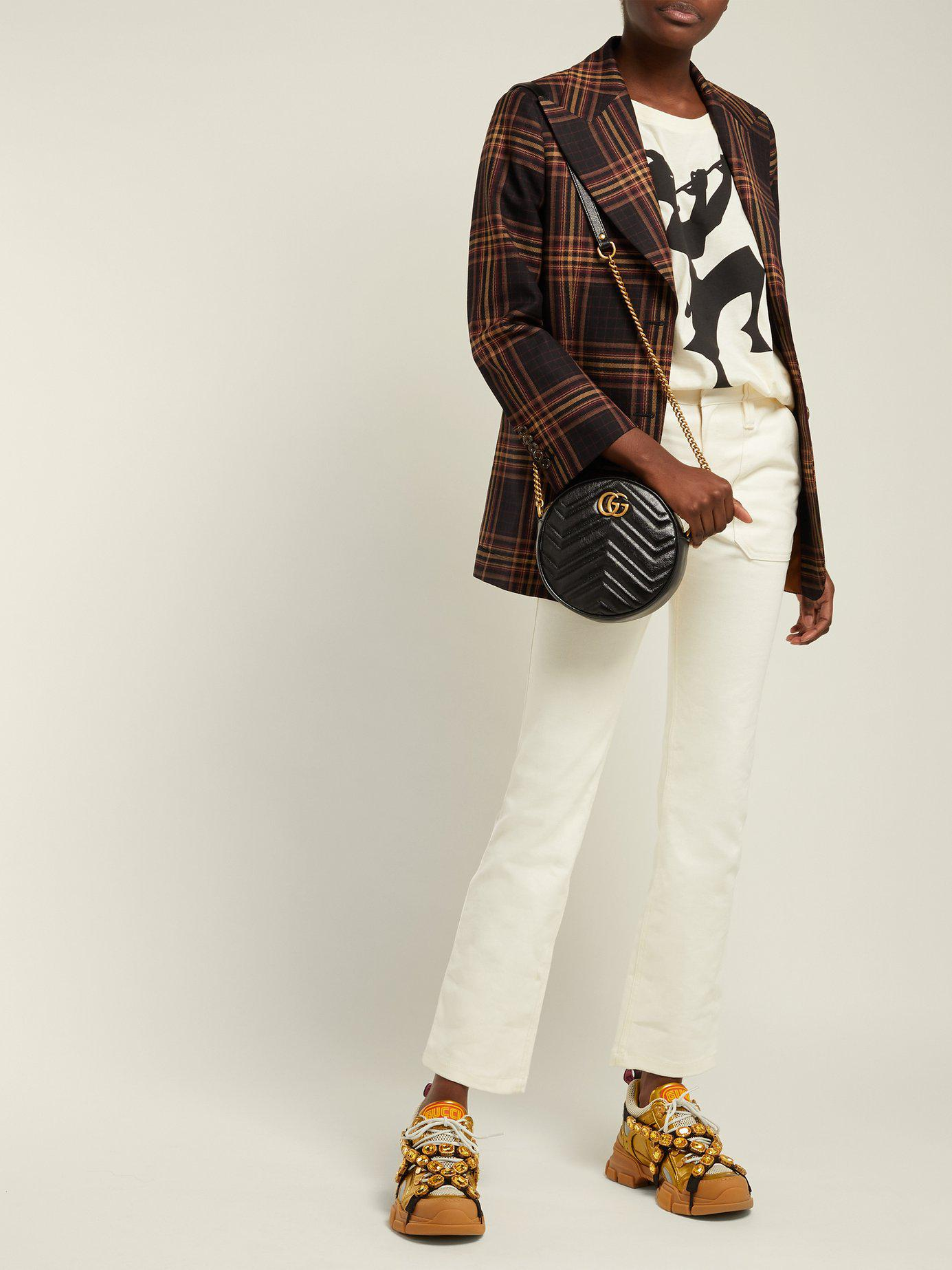 572cd351143 Gucci - Black Gg Marmont Circular Leather Cross Body Bag - Lyst. View  fullscreen