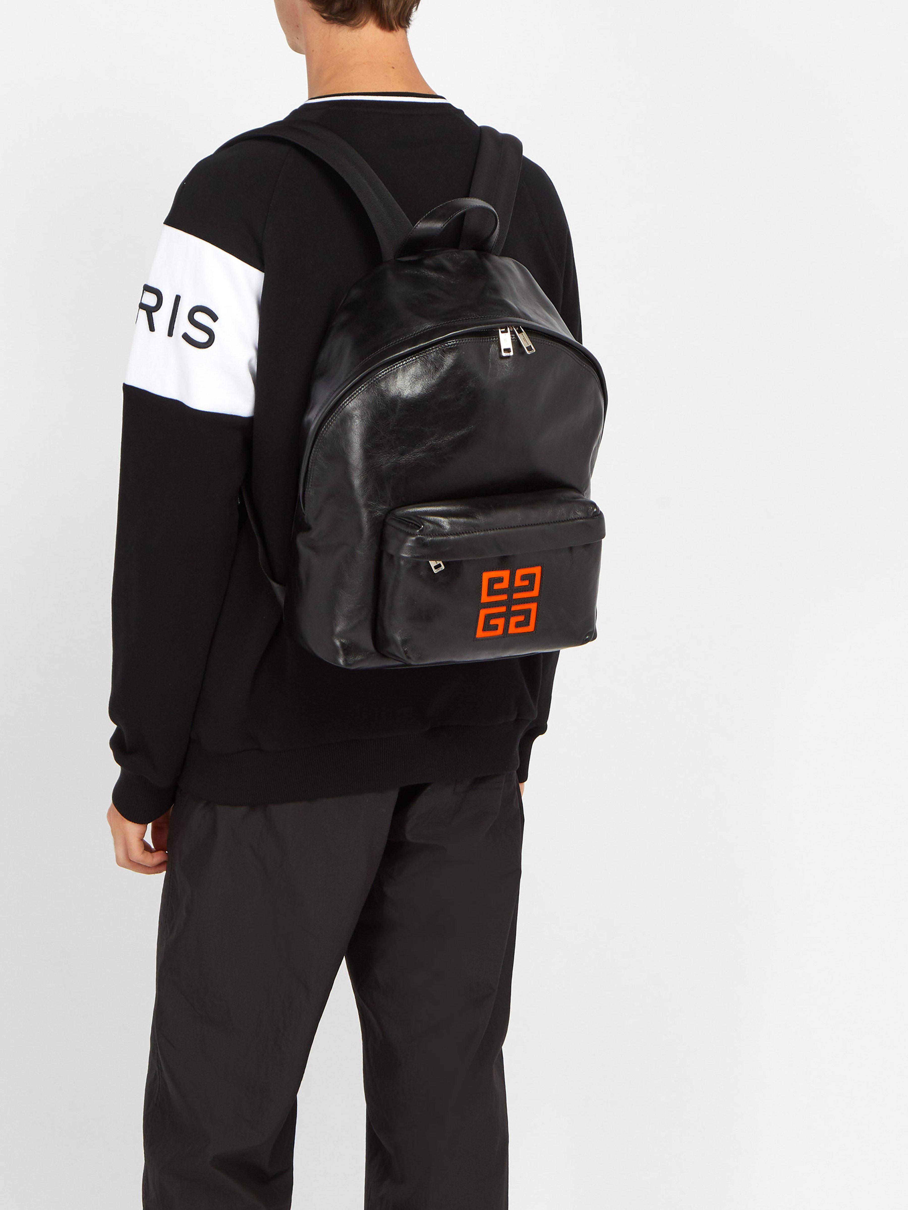 4g En Givenchy Noir À Pour Coloris Logo Sac Homme Lyst Dos Cuir O0Yt1qPw