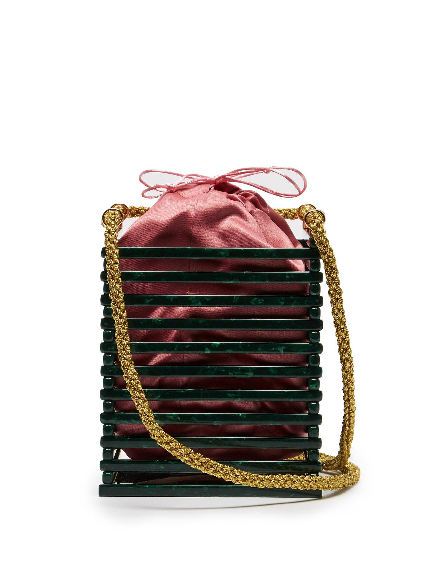 6d8922eec3 Montunas - Multicolor Vanda Tortoiseshell Acetate Box Bag - Lyst. View  fullscreen