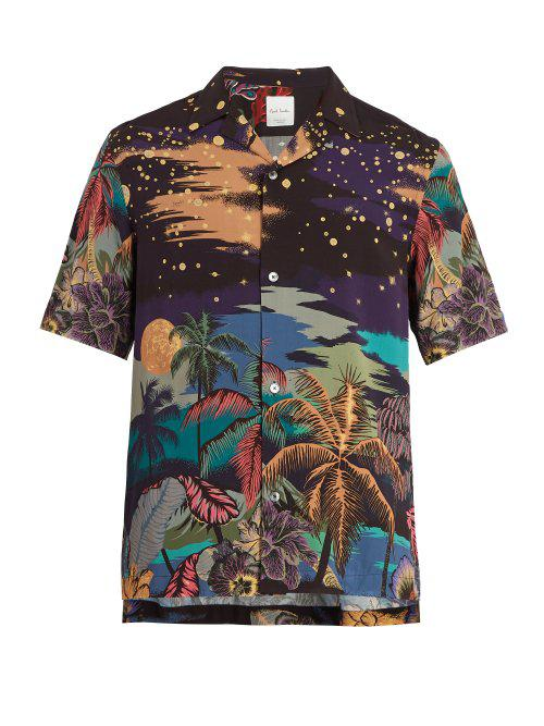 a1653acce Paul Smith Midnight Print Shirt for Men - Lyst