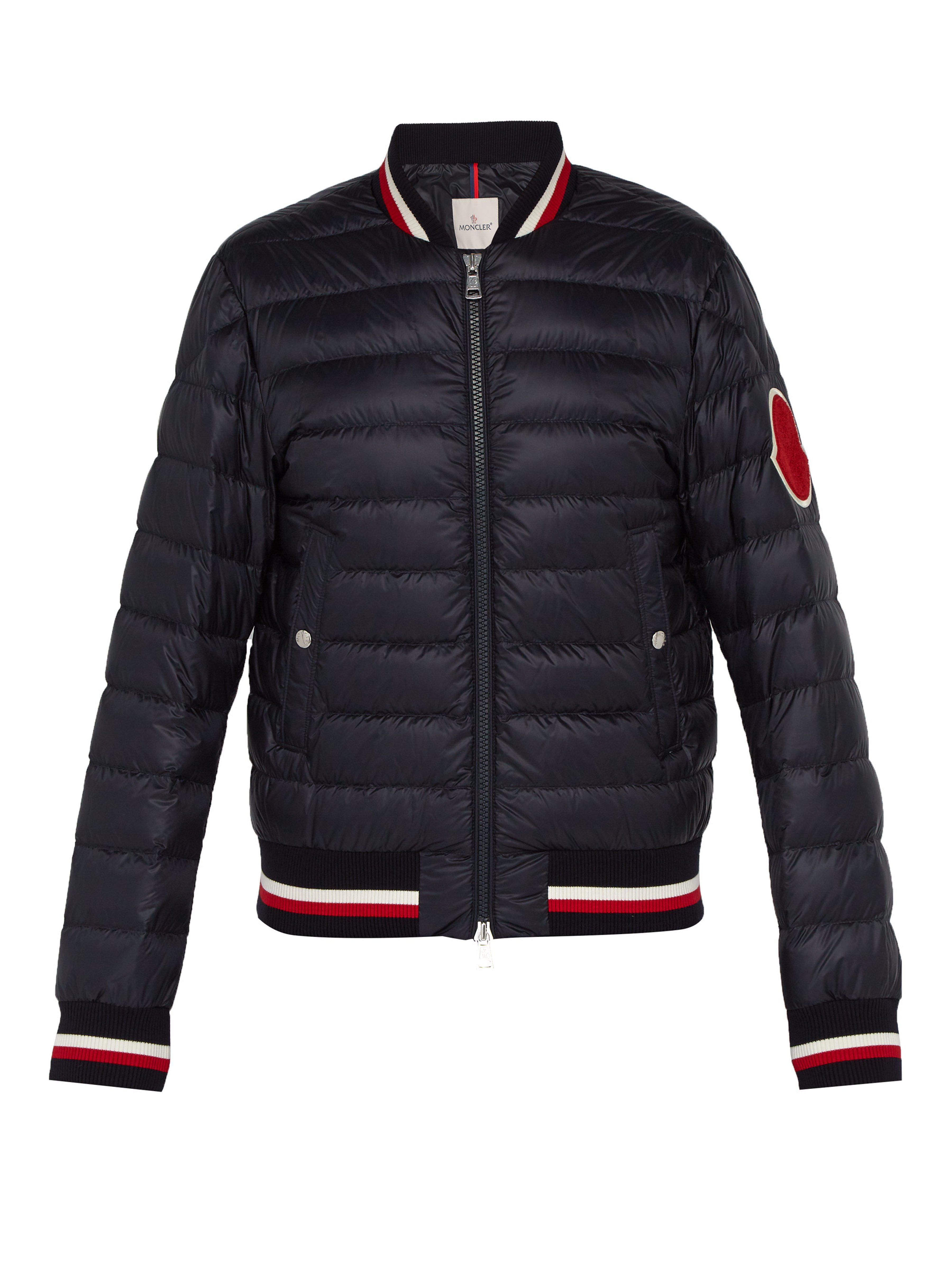 61398266f Moncler Deltour Down Filled Bomber Jacket in Blue for Men - Save 1 ...