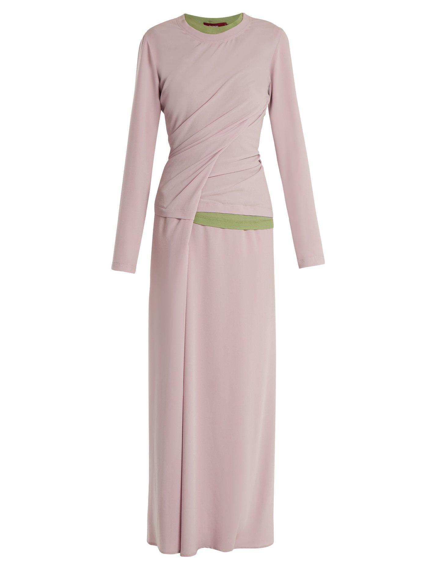 Vivki twisted two-tone dress Sies Marjan Cheap Sale Real Ofowd