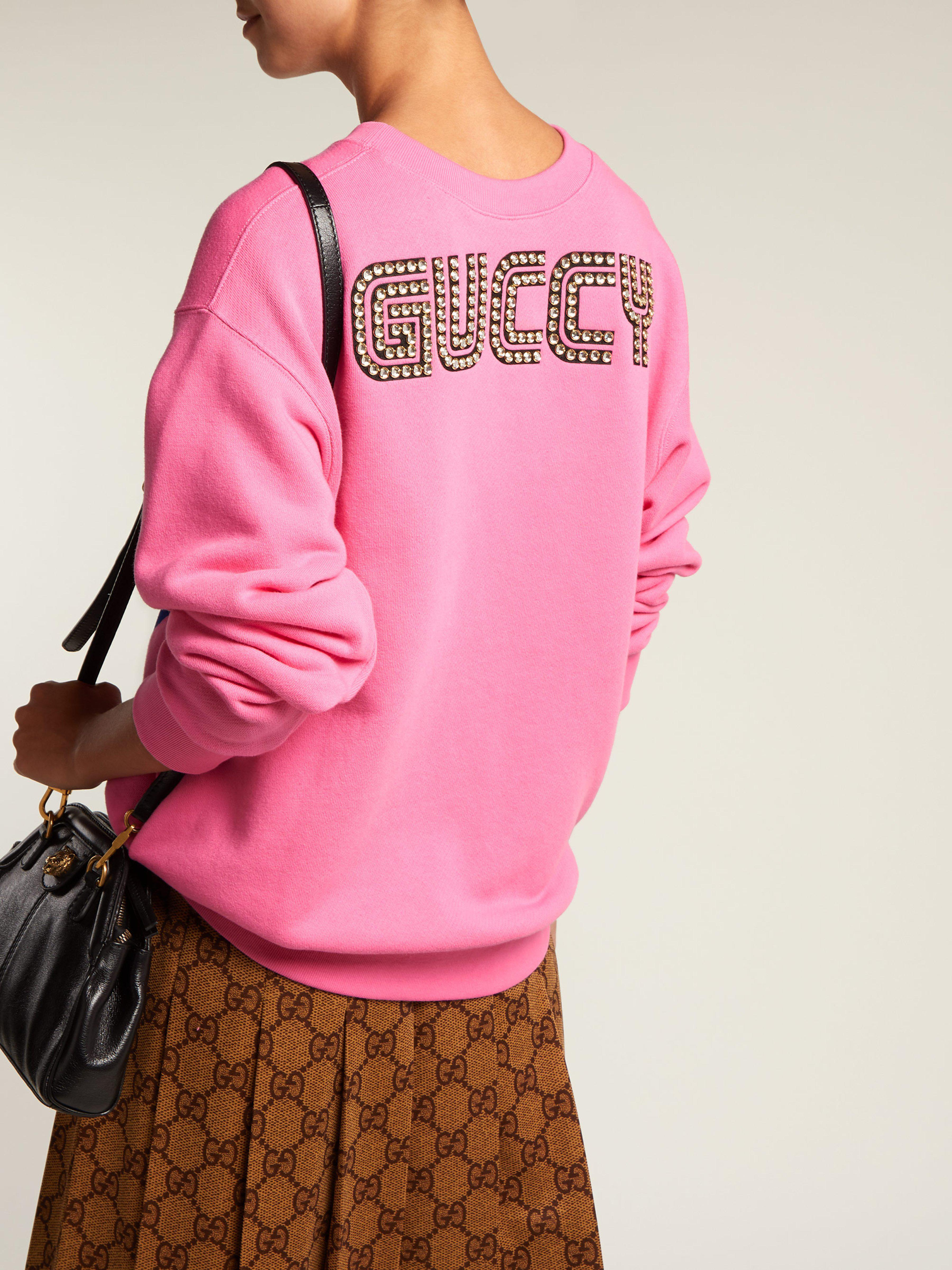 e729f1240bb Gucci Oversized Boston Terrier Sweatshirt in Pink - Save 25% - Lyst