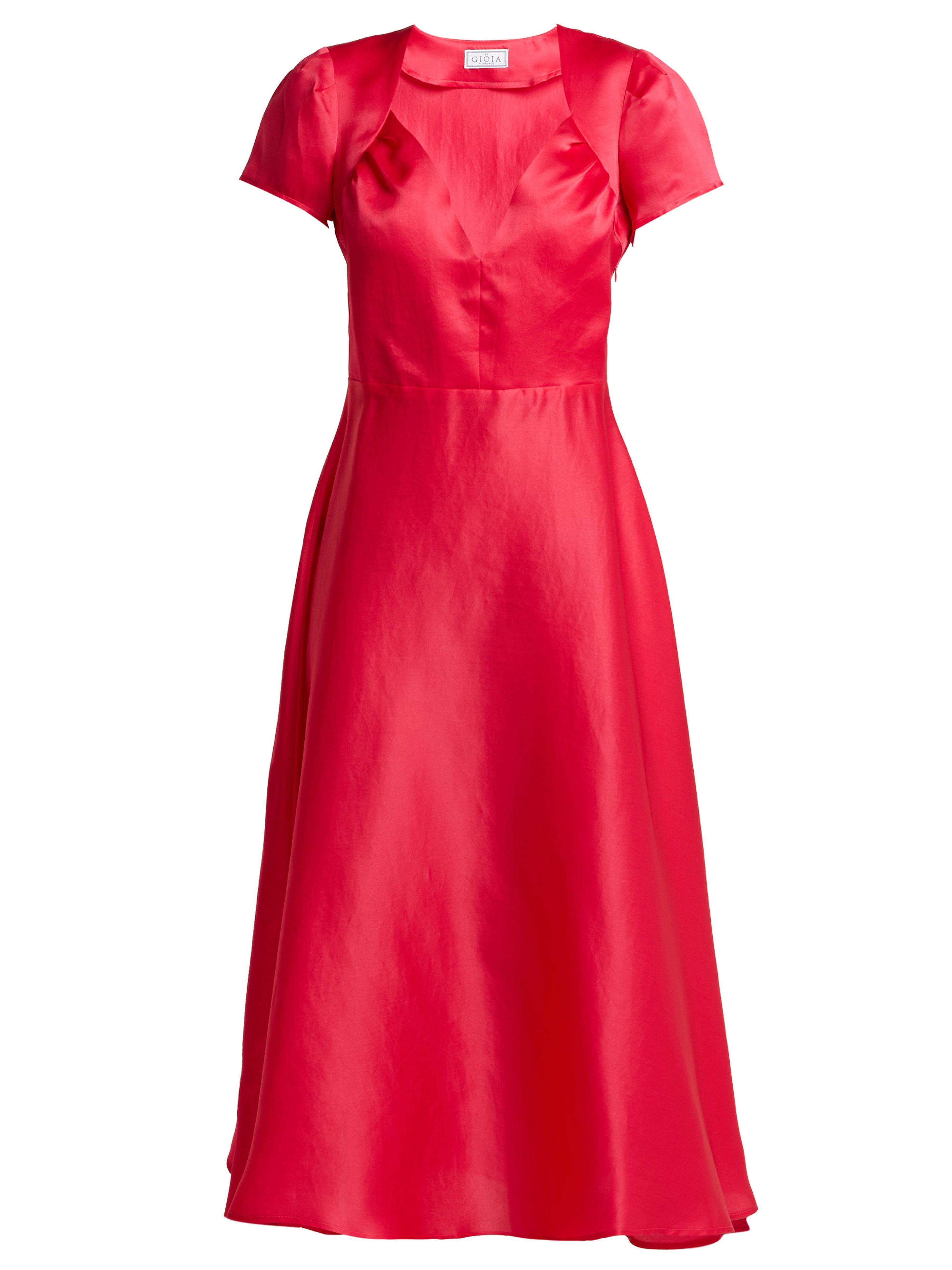 2824a6d0e7 Gioia Bini Tina Silk Dress in Pink - Lyst
