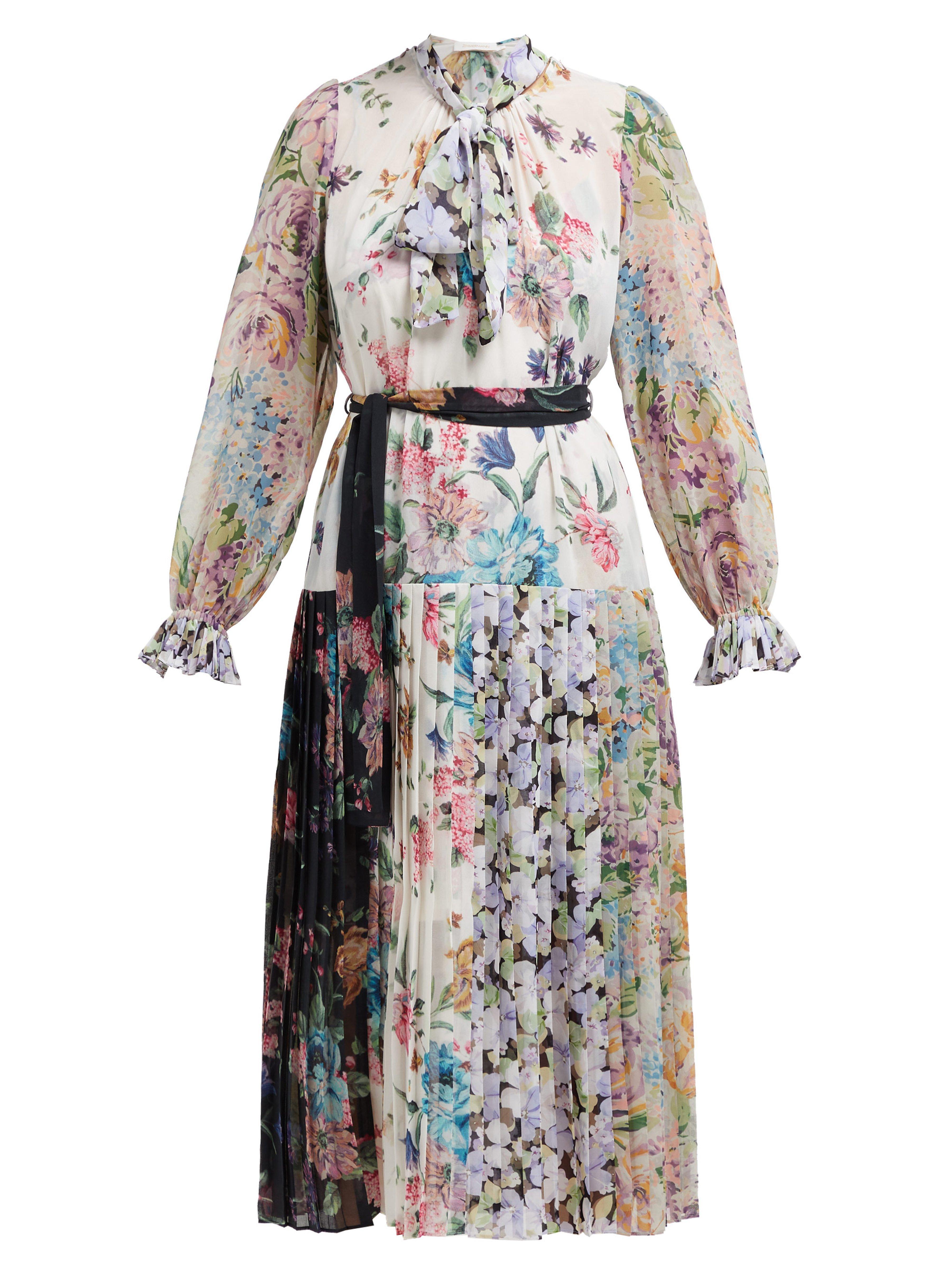dc22174c35 Zimmermann. Women s Ninety Six Floral Print Crepe De Chine Midi Dress