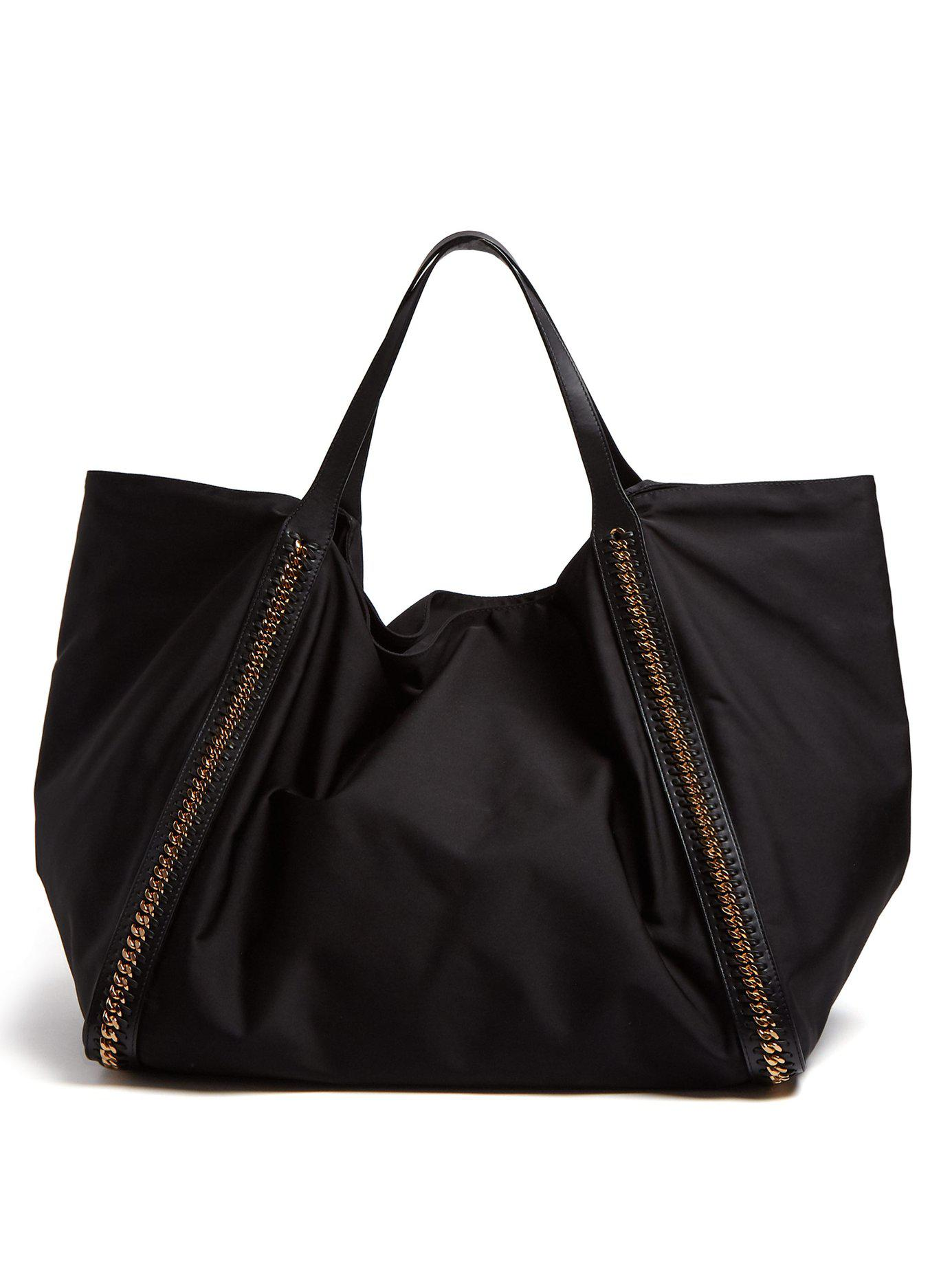 2c3cda0ad33b Stella McCartney. Women s Black Falabella Go Oversized Eco Nylon Tote Bag