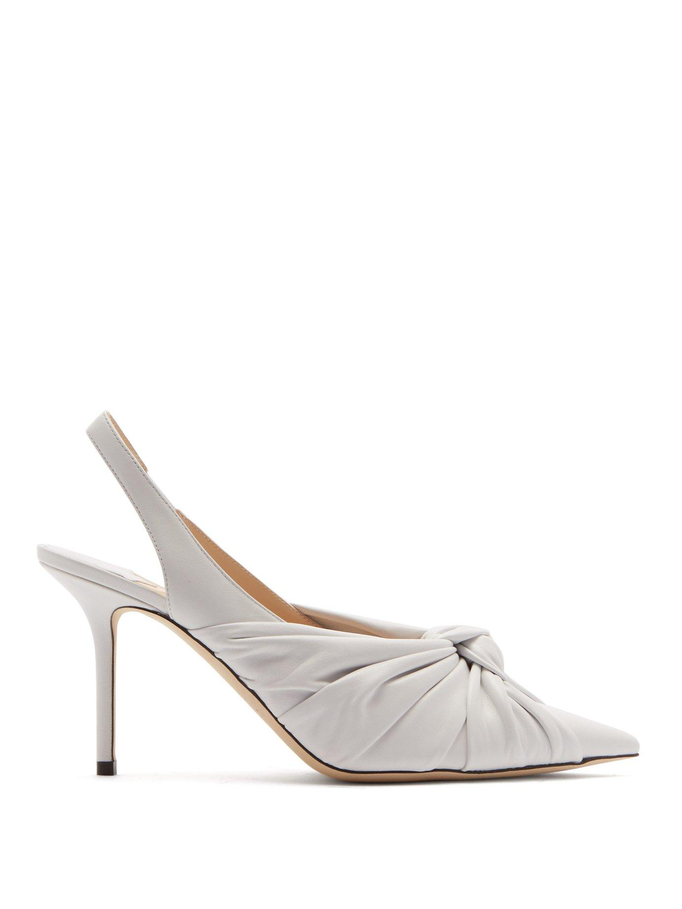 75f26dbe3e5 Lyst - Jimmy Choo Annabelle 85 Leather Slingback Pumps in White