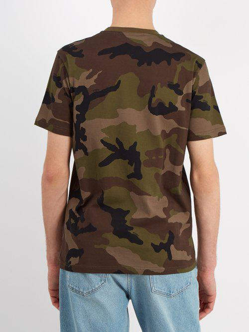 4b04e501 Givenchy Monkey Brothers Camo Cotton T-shirt for Men - Lyst