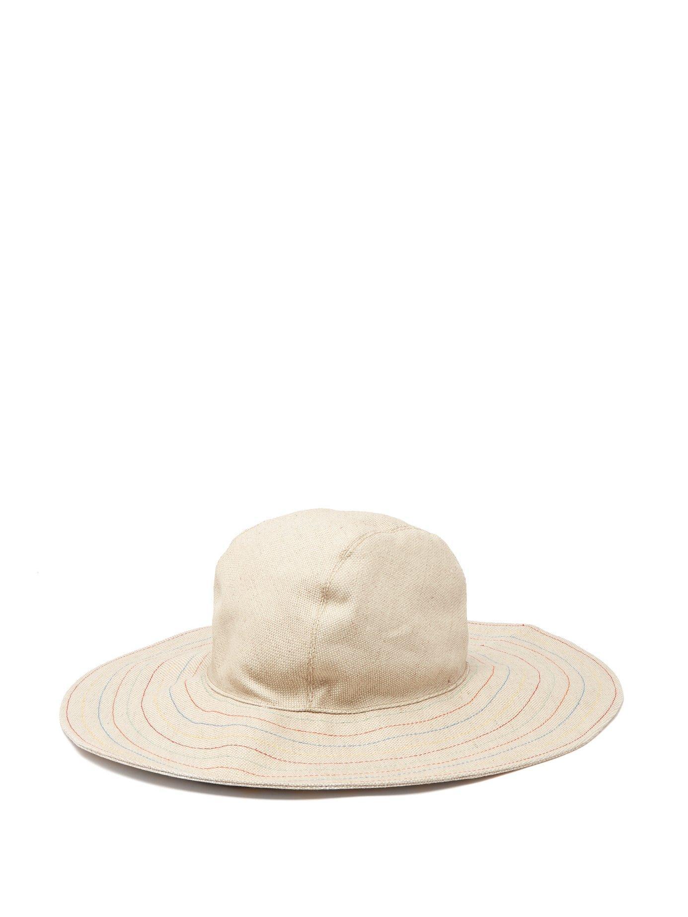 3b3bab0374e3b1 House of Lafayette. Women's Natural Malini Contrast Stitching Linen Bucket  Hat