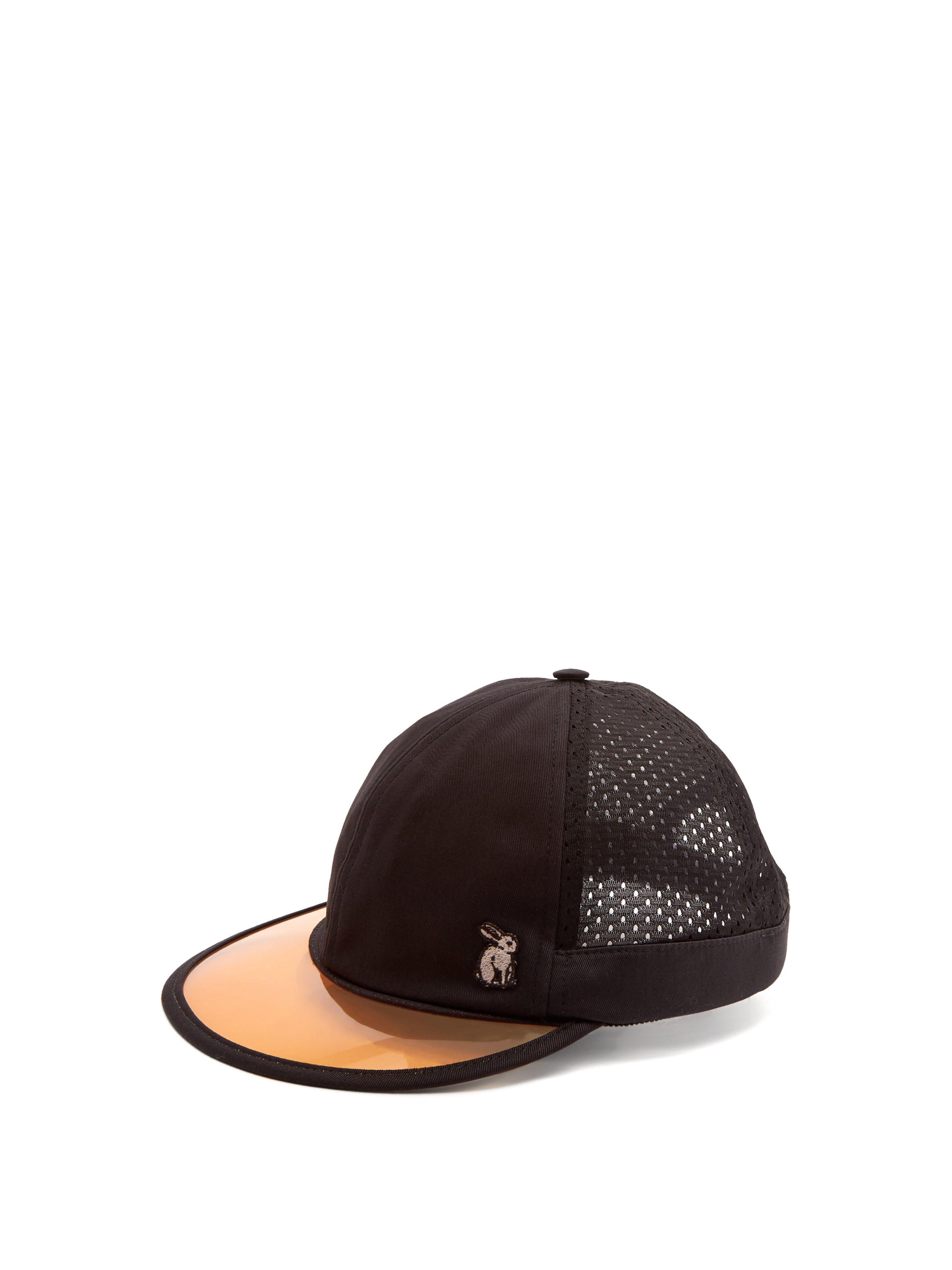 efbe775f042 Gucci Mesh And Cotton Visor Cap in Black for Men - Save 30% - Lyst