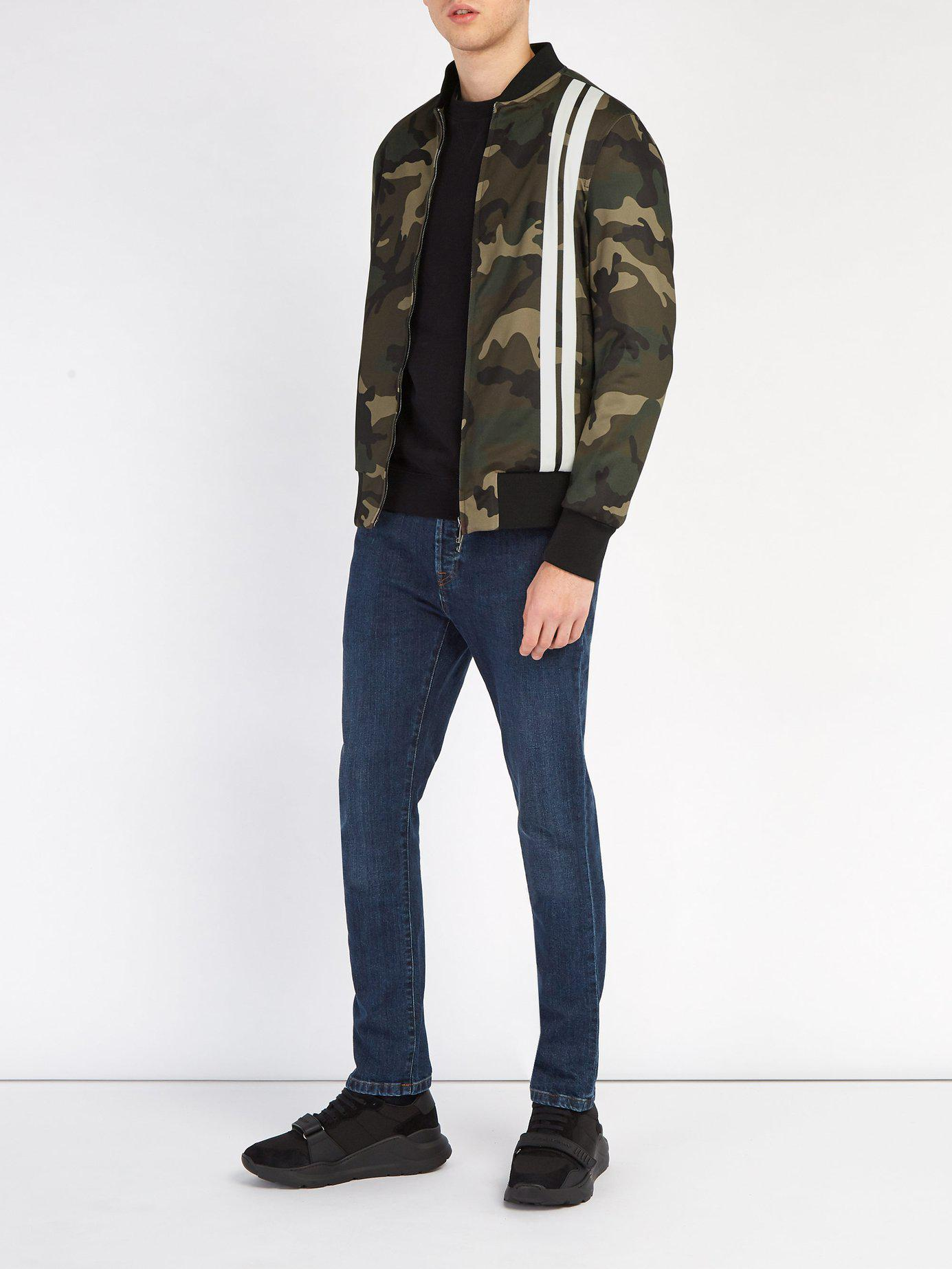 37cfada47caef Lyst - Valentino Camouflage Print Bomber Jacket in Green for Men - Save 60%