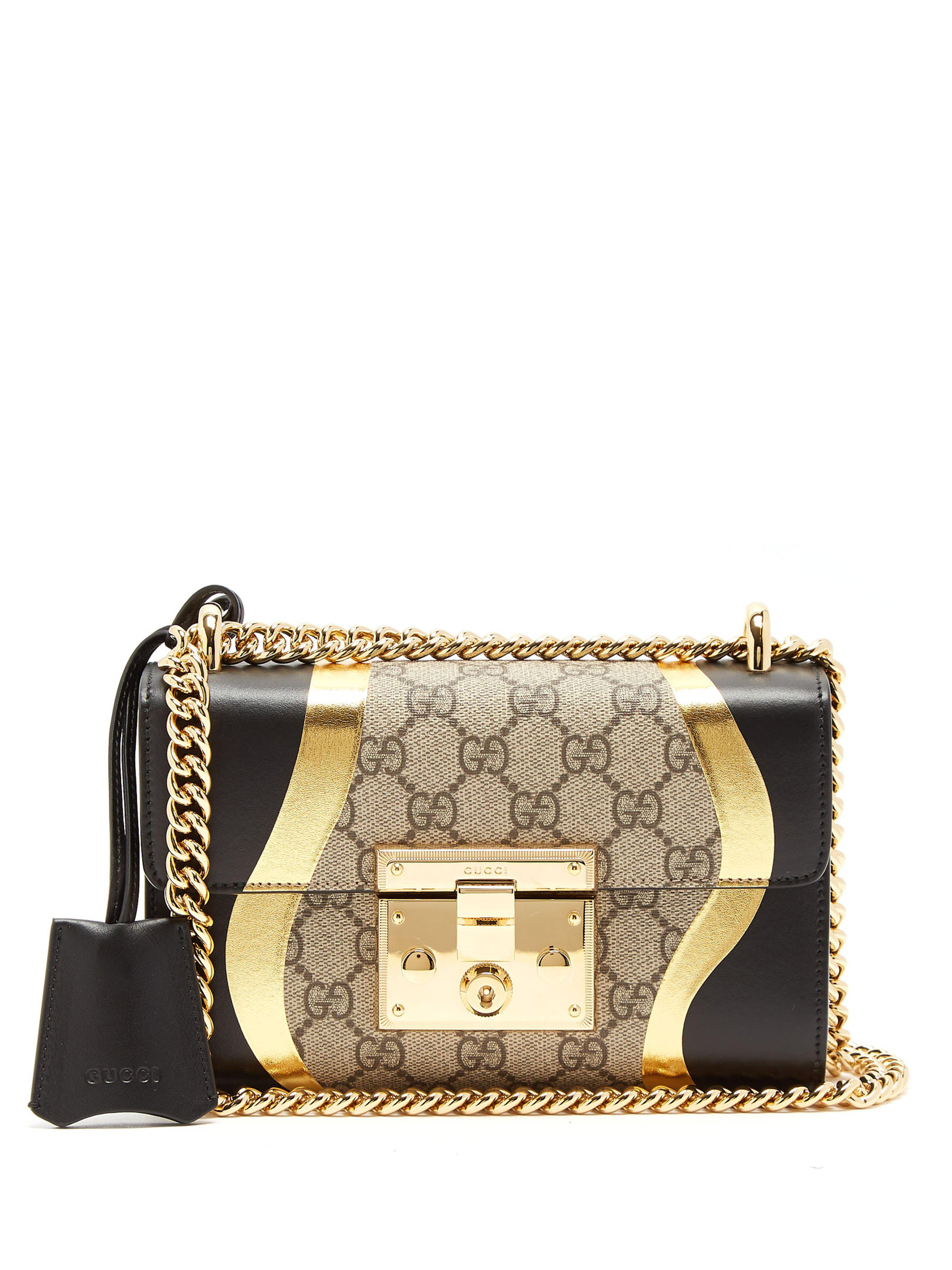 Gucci Padlock Gg Supreme Leather Shoulder Bag - Save 11% - Lyst be6ccc4b5f8d7