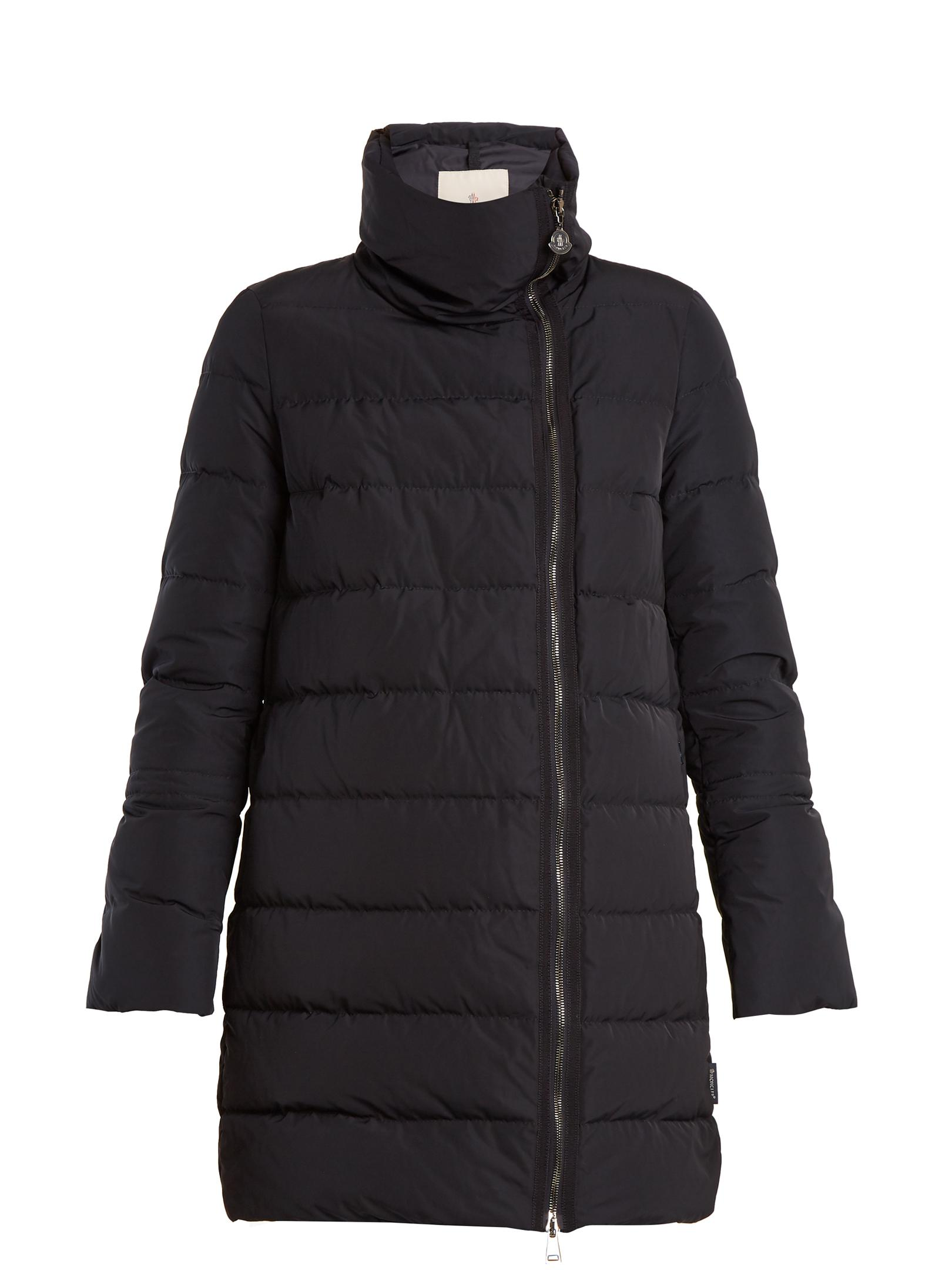 Moncler Lobelia Quilted Down Coat In Blue Lyst
