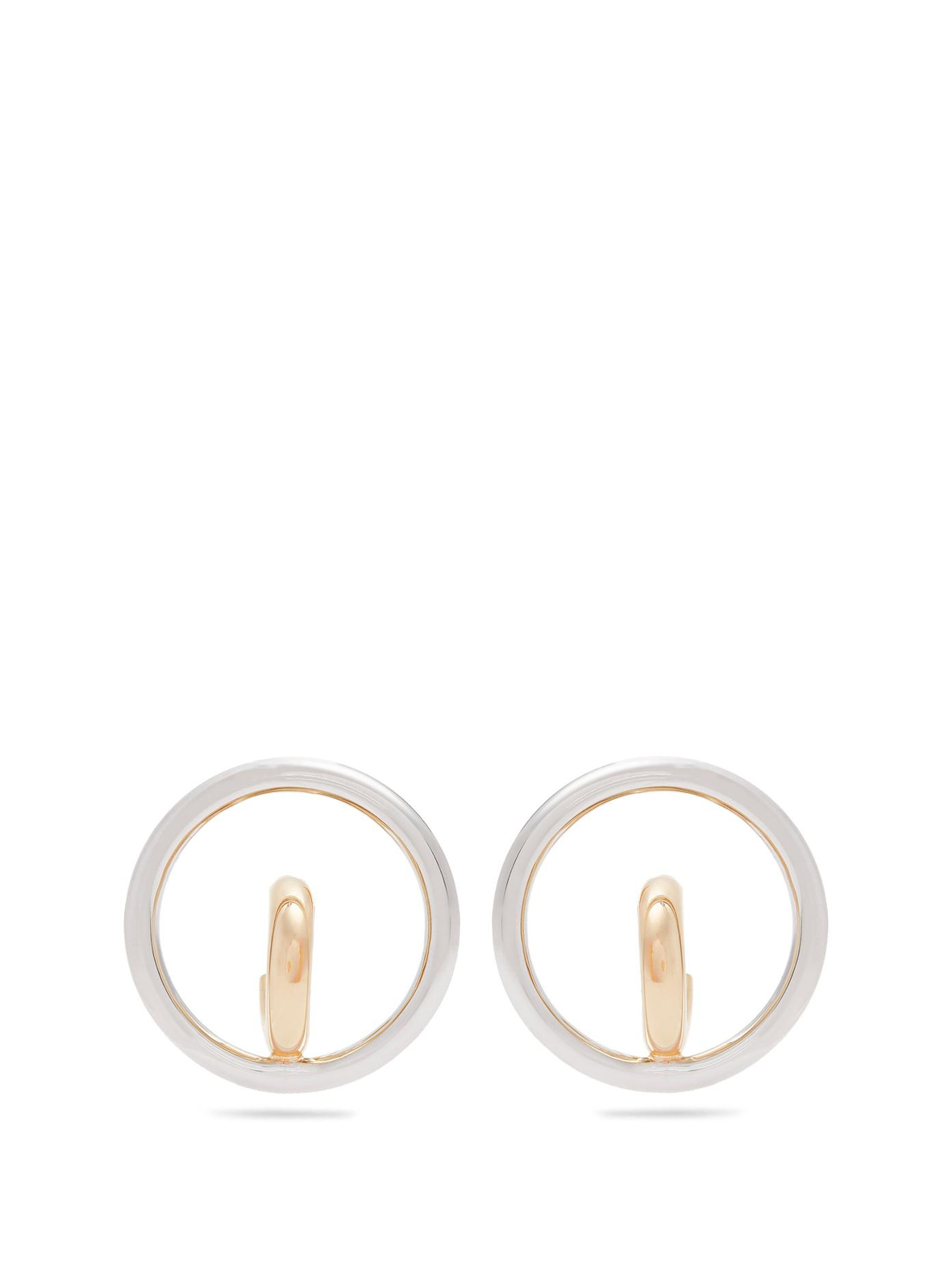 Charlotte Chesnais Saturn Blow Medium earrings - Metallic HRFKVr
