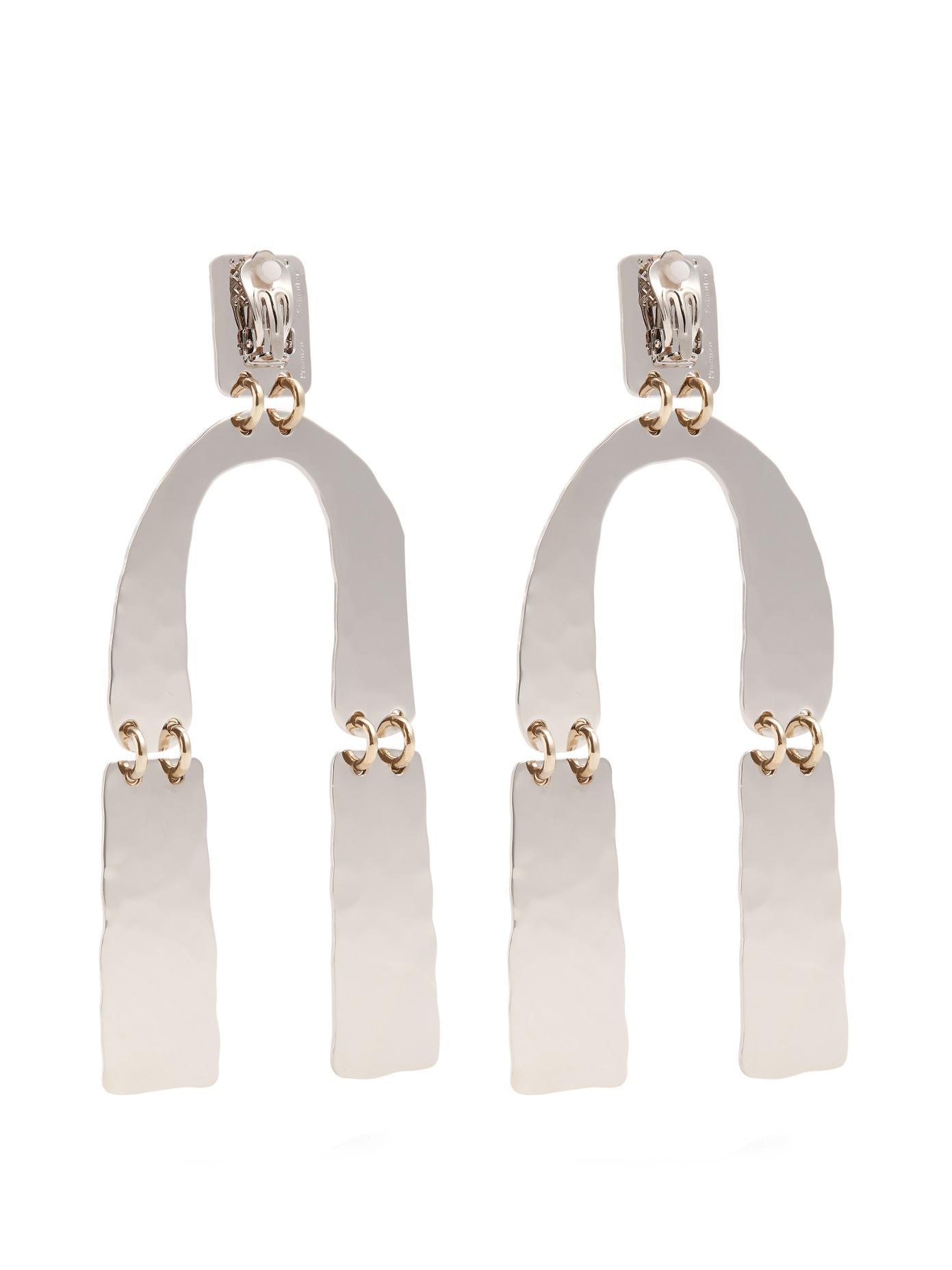 Silver Medium Hammered Earrings Proenza Schouler OOAILc