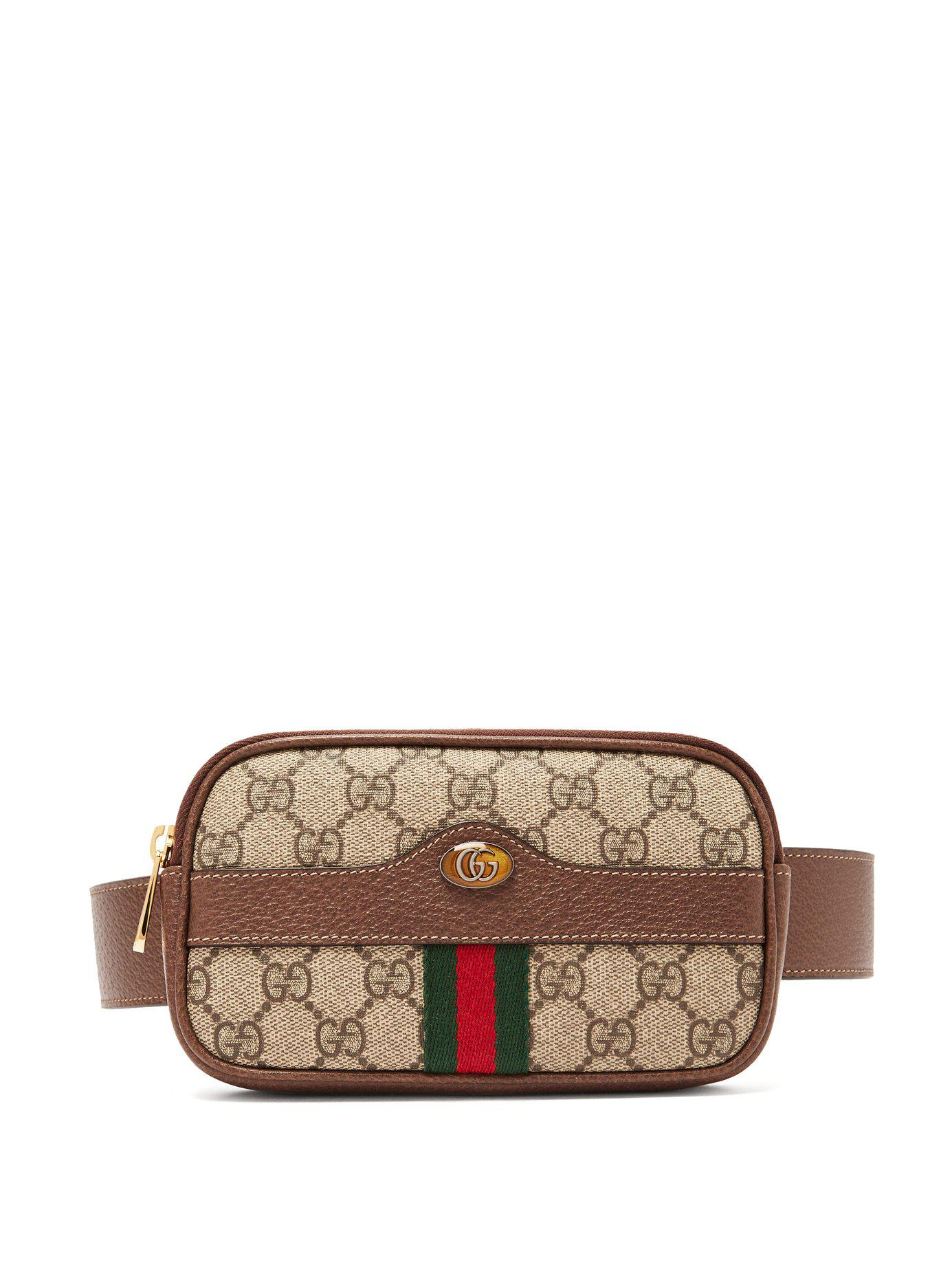 55232a73ed6e Gucci Ophidia Gg Supreme Iphone® Belt Bag in Brown - Lyst