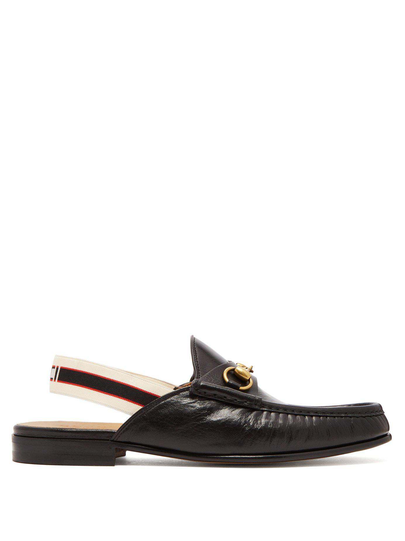 f6326201478 Lyst - Gucci Horsebit Slingback Strap Backless Leather Loafers in ...