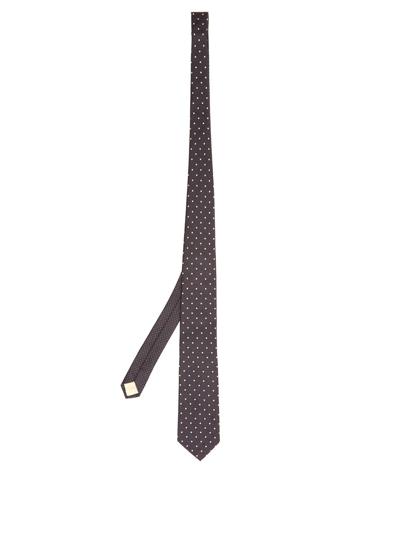 744d39505a14 Lyst - Cravate en satin de soie à logo brodé Prada pour homme - 58 ...
