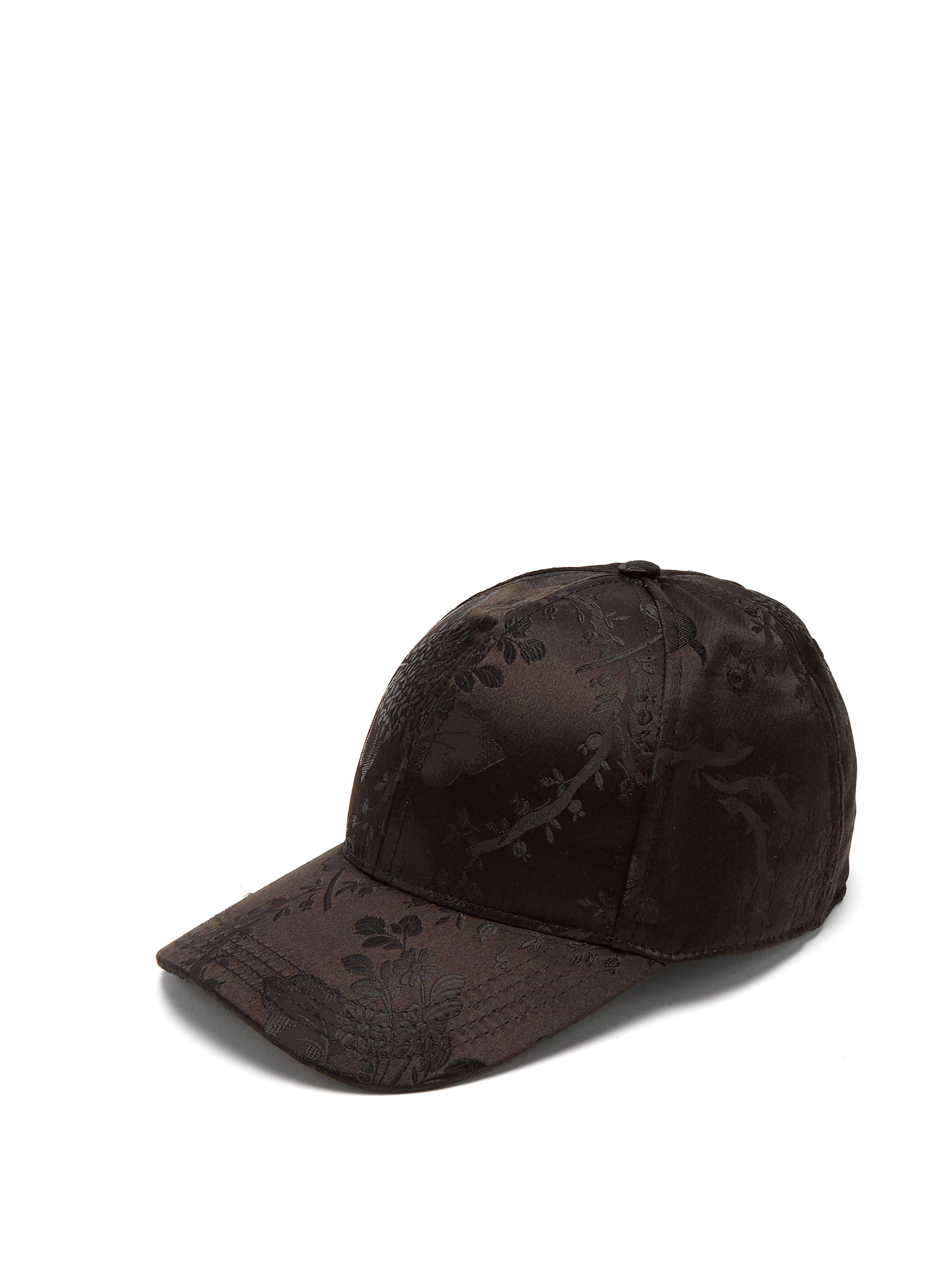 4414f4d7460 Dolce   Gabbana Floral Jacquard Baseball Cap in Black for Men - Lyst
