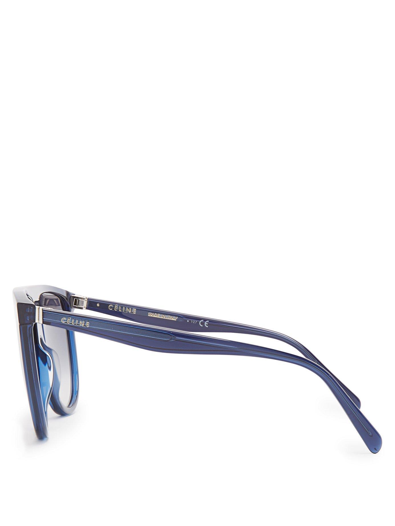 5825b84f3a Céline - Blue Shadow D Frame Aviator Sunglasses - Lyst. View fullscreen