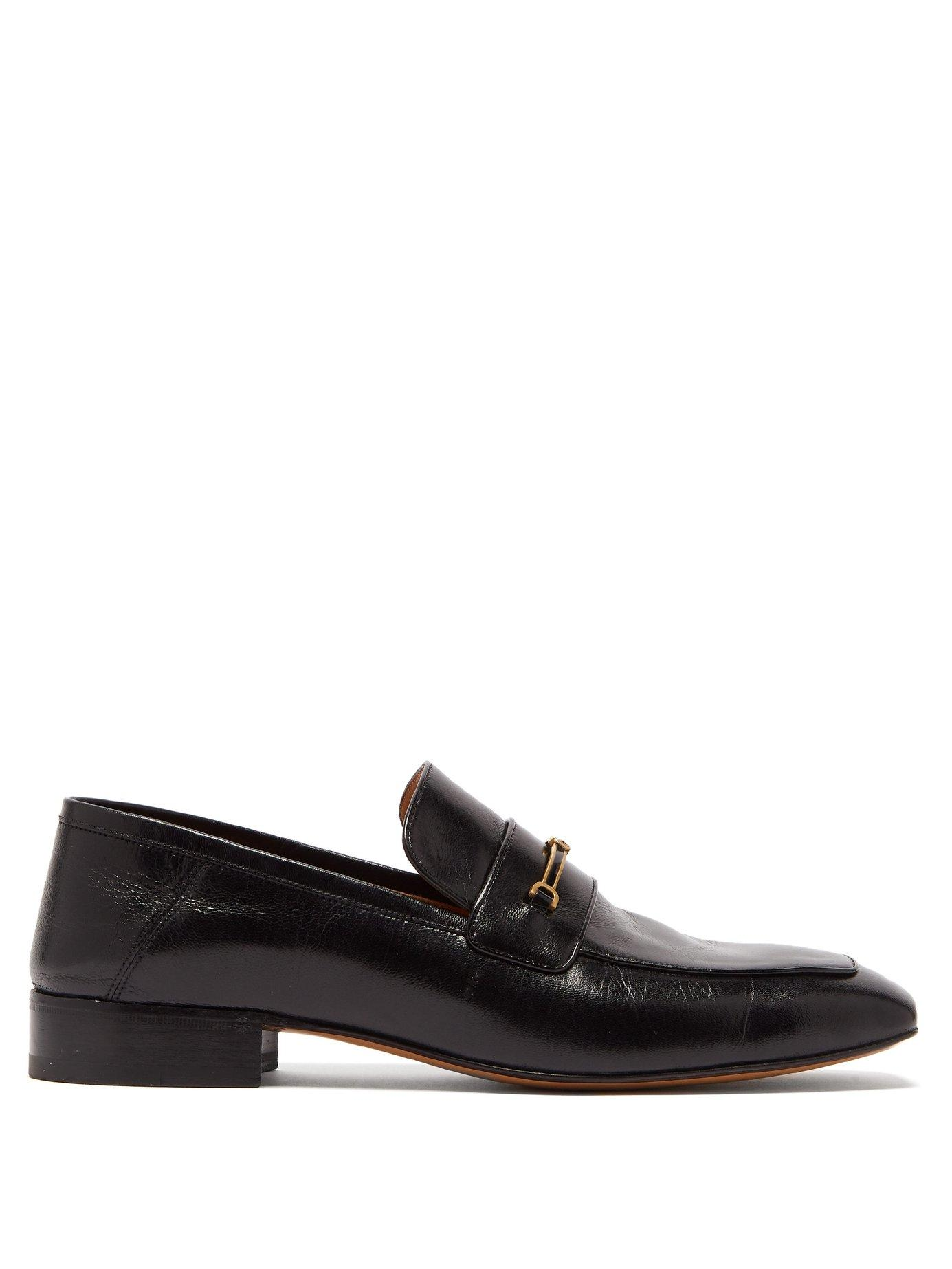 a6cc10d4b Lyst - Gucci Quentin Gg Horsebit Leather Loafers in Black for Men
