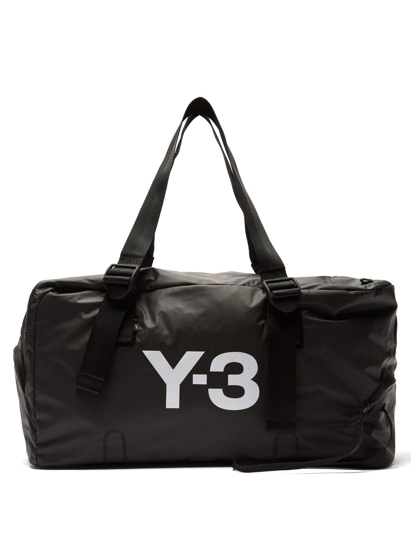 a079ee307081 Lyst - Y-3 Bungee Logo Print Weekend Bag in Black for Men