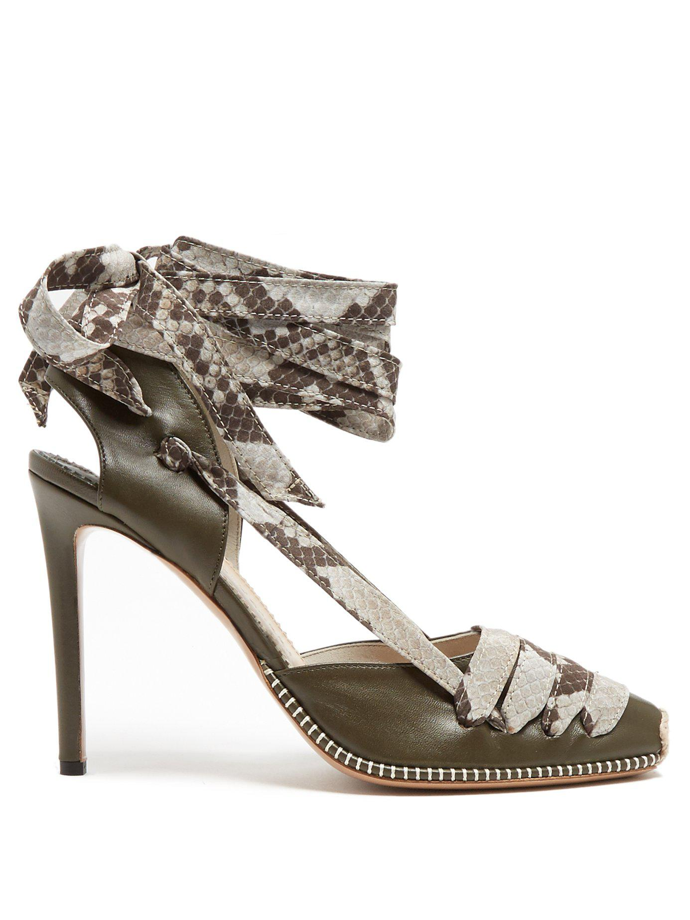 Altuzarra Python-print ribbon d'Orsay leather pumps Discount Popular geqIY20Y