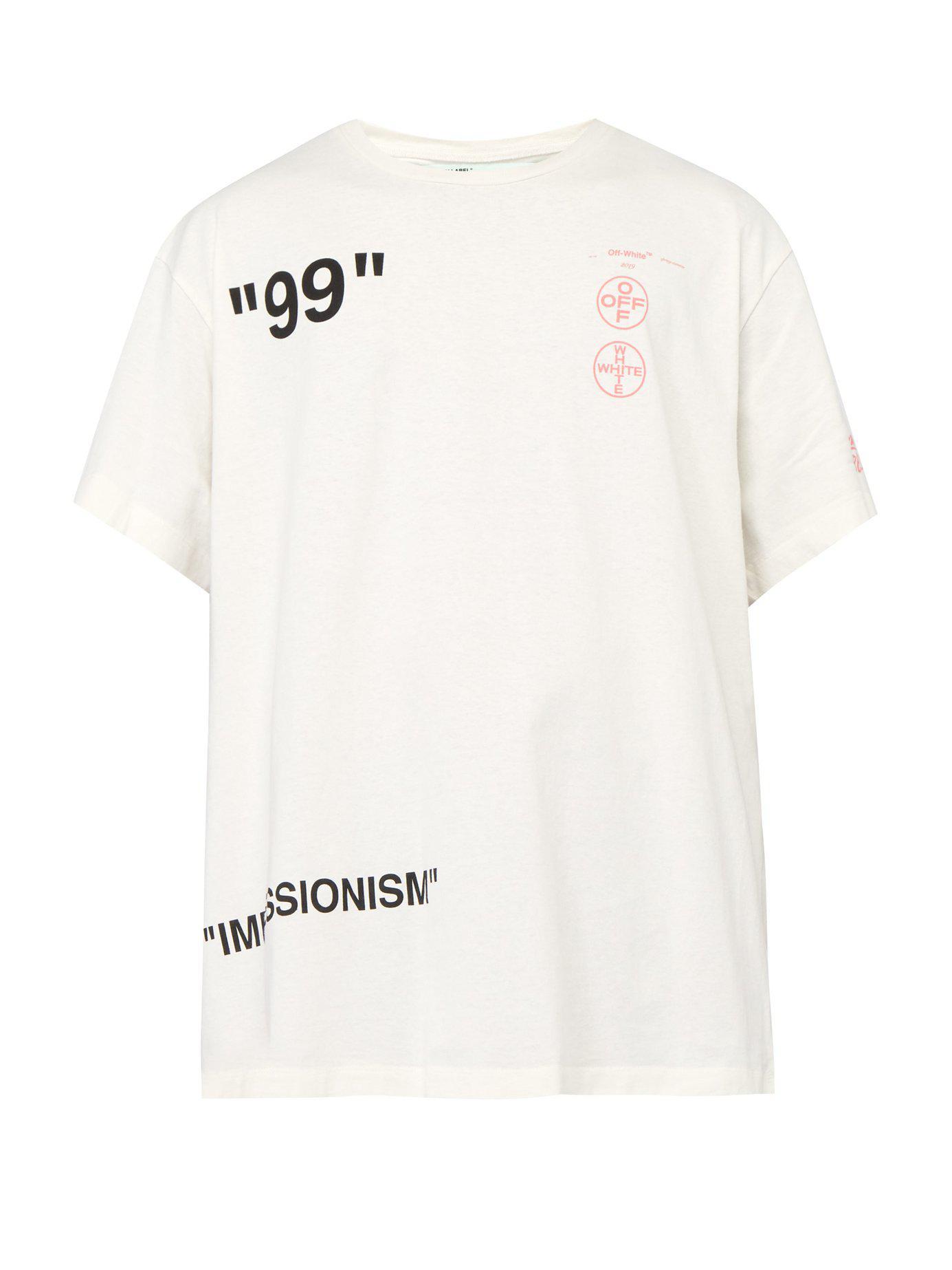 78082c54ecb089 Lyst - Off-White c o Virgil Abloh Impressionism Print T Shirt in ...