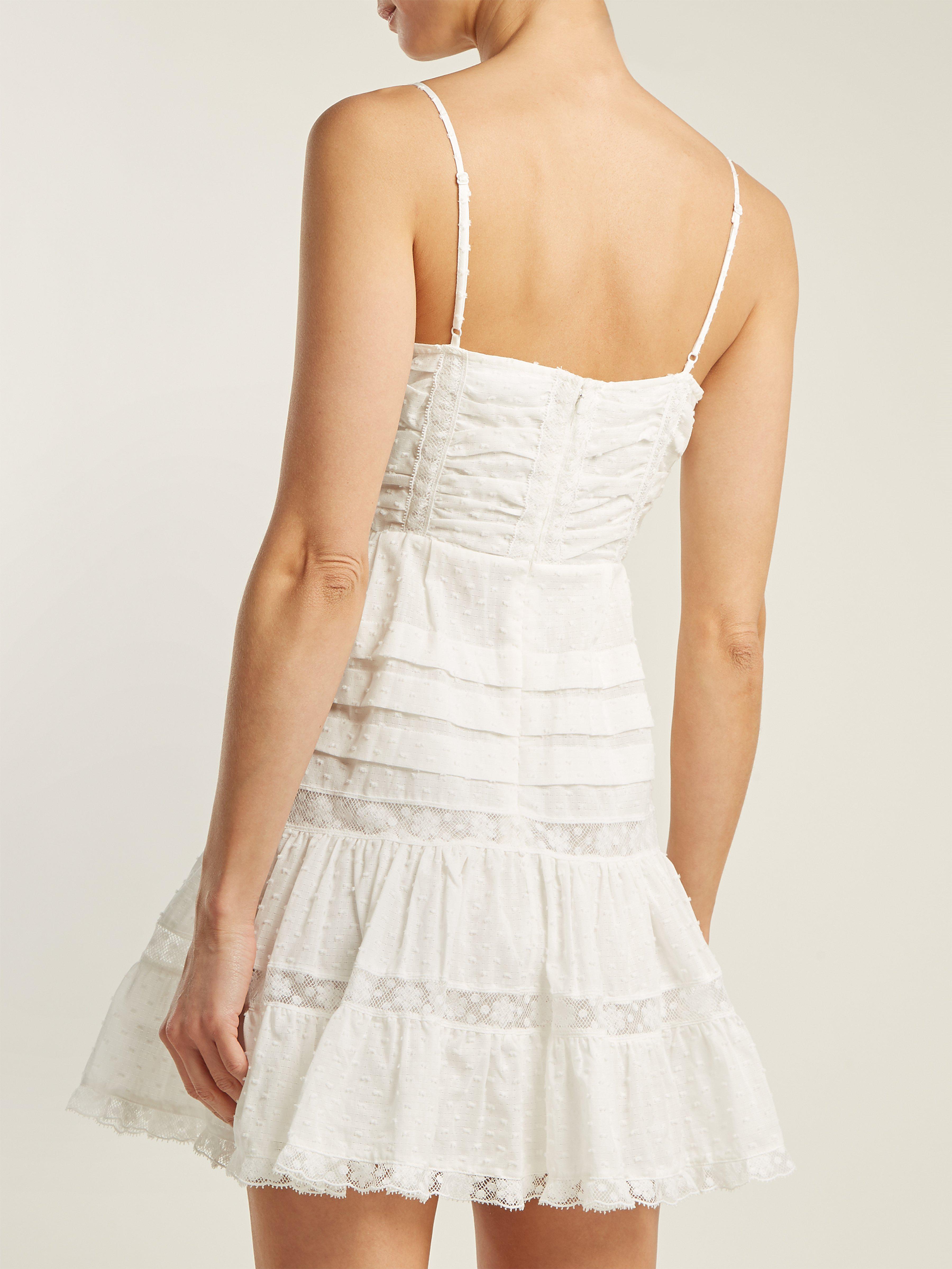 d97e41214bd Zimmermann - White Iris Lace Insert Camisole Dress - Lyst. View fullscreen